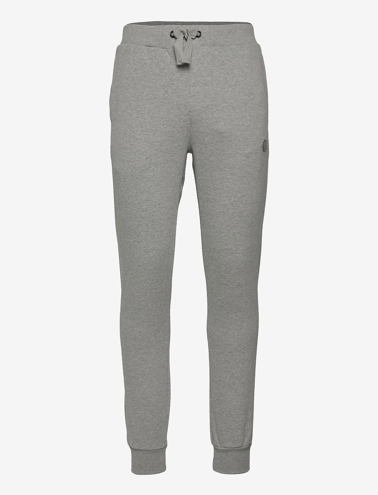 Knowledge Cotton Apparel - TEAK sweat pants - GOTS/Vegan - kleding - grey melange - 0