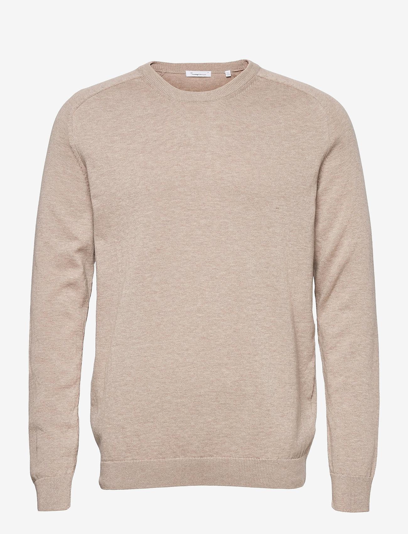Knowledge Cotton Apparel - FIELD O-neck long stable cotton kni - podstawowa odzież z dzianiny - light feather gray - 0