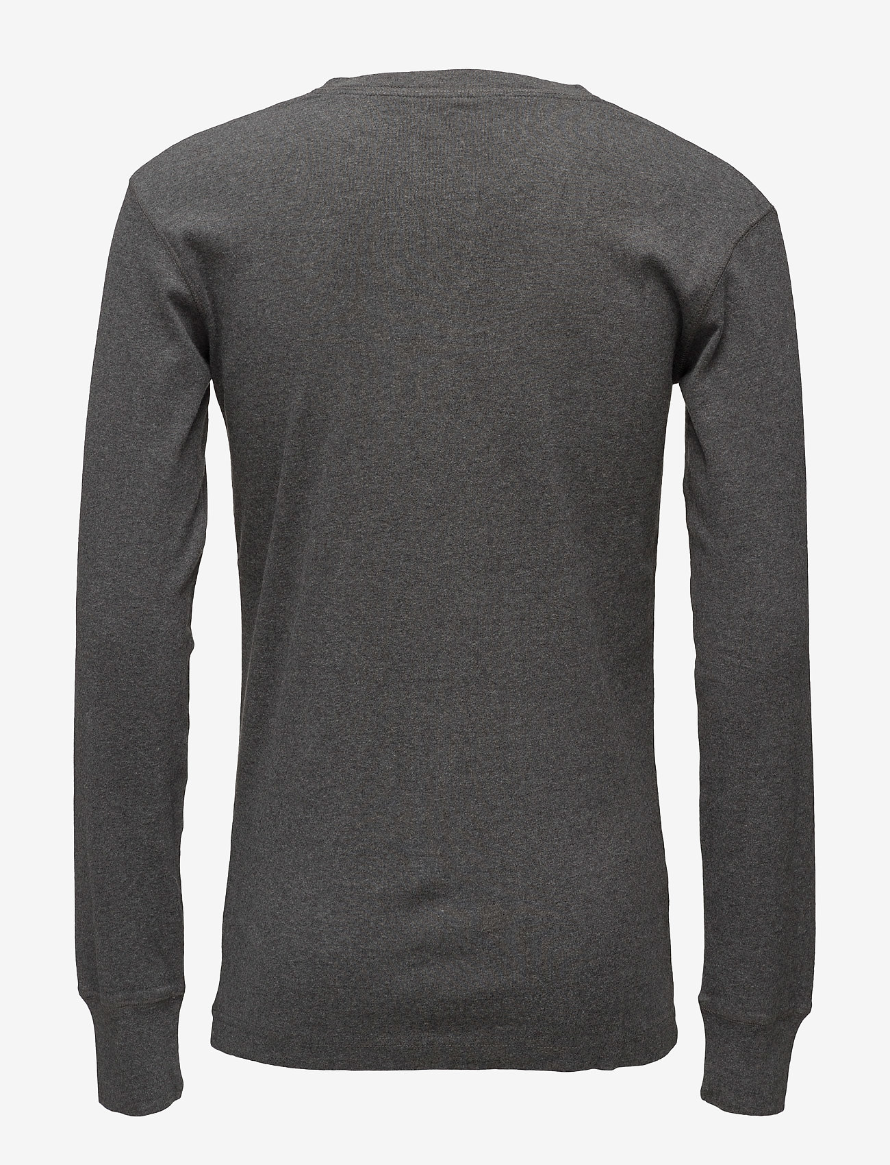 Knowledge Cotton Apparel CEDAR LS Henley - GOTS/Vegan - T-skjorter DARK GREY MELANGE - Menn Klær