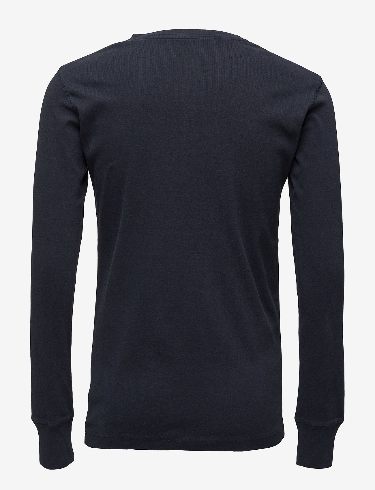 Knowledge Cotton Apparel CEDAR LS Henley - GOTS/Vegan - T-skjorter TOTAL ECLIPSE - Menn Klær