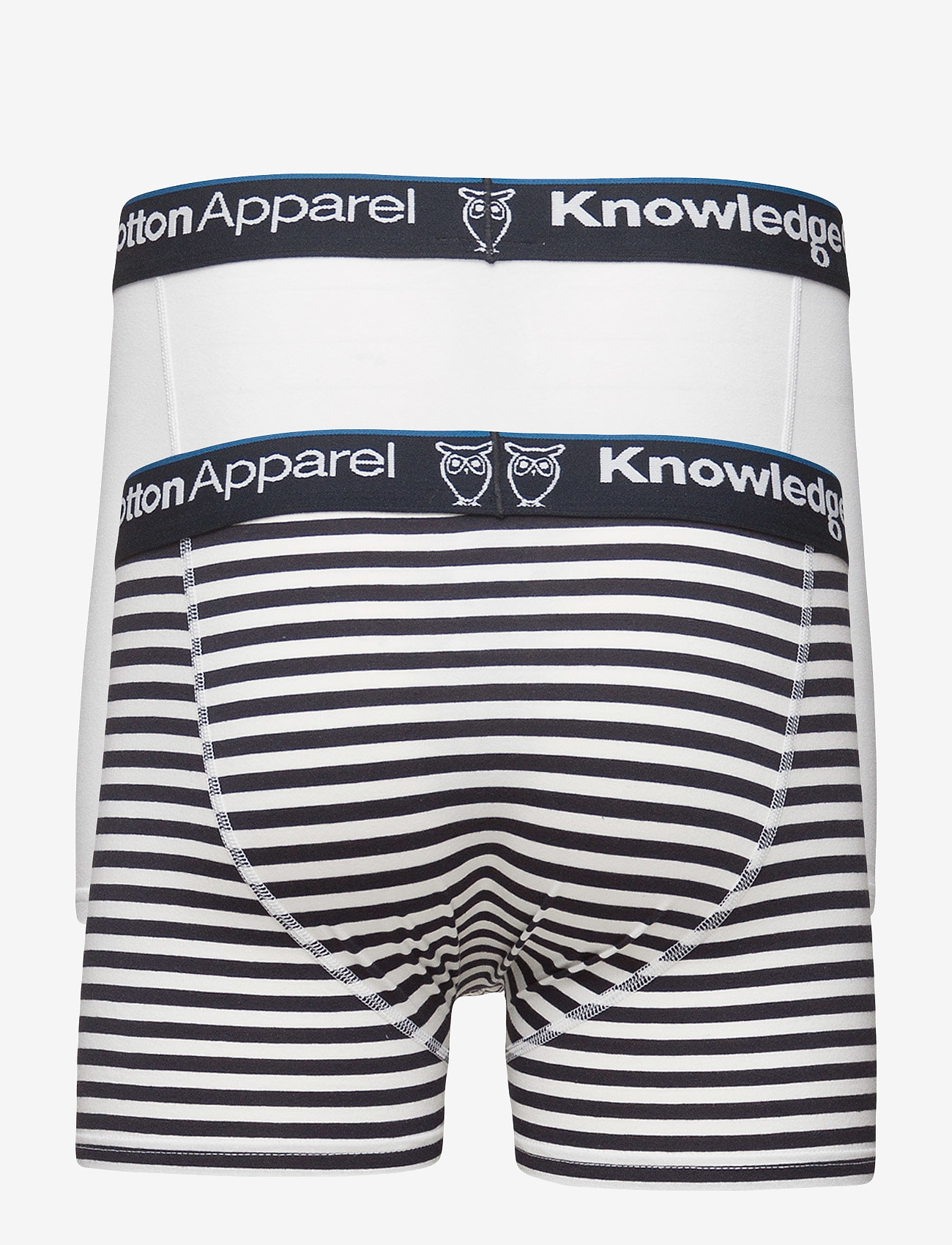 Knowledge Cotton Apparel - MAPLE 2 pack striped underwear - boxershorts - total eclipse - 1