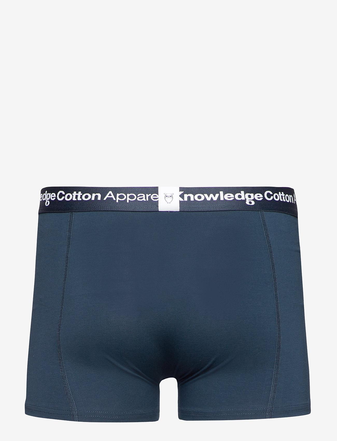 Knowledge Cotton Apparel - MAPLE 2-pack underwear - GOTS/Vegan - caleçon - grey melange - 1