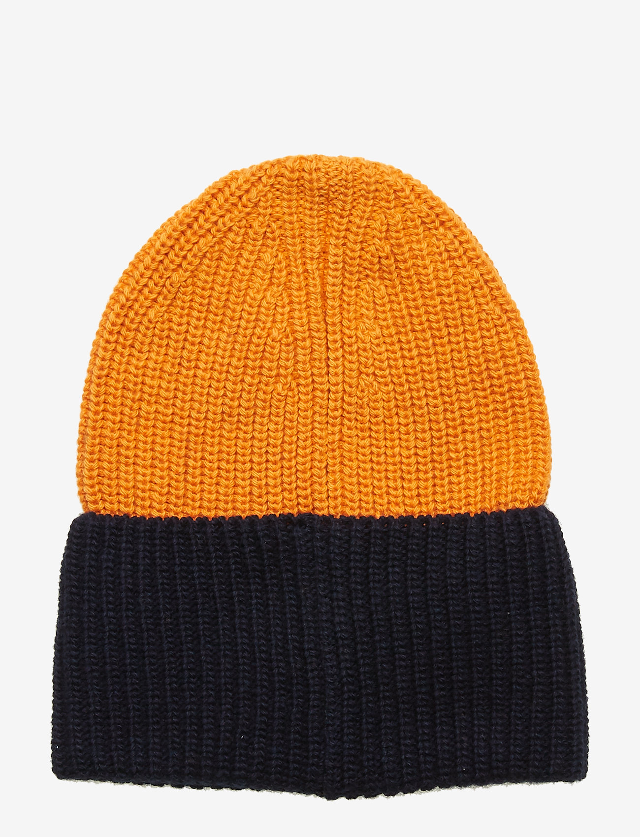 Knowledge Cotton Apparel - Two colored hat - GOTS - pipot - persimmon orange - 1