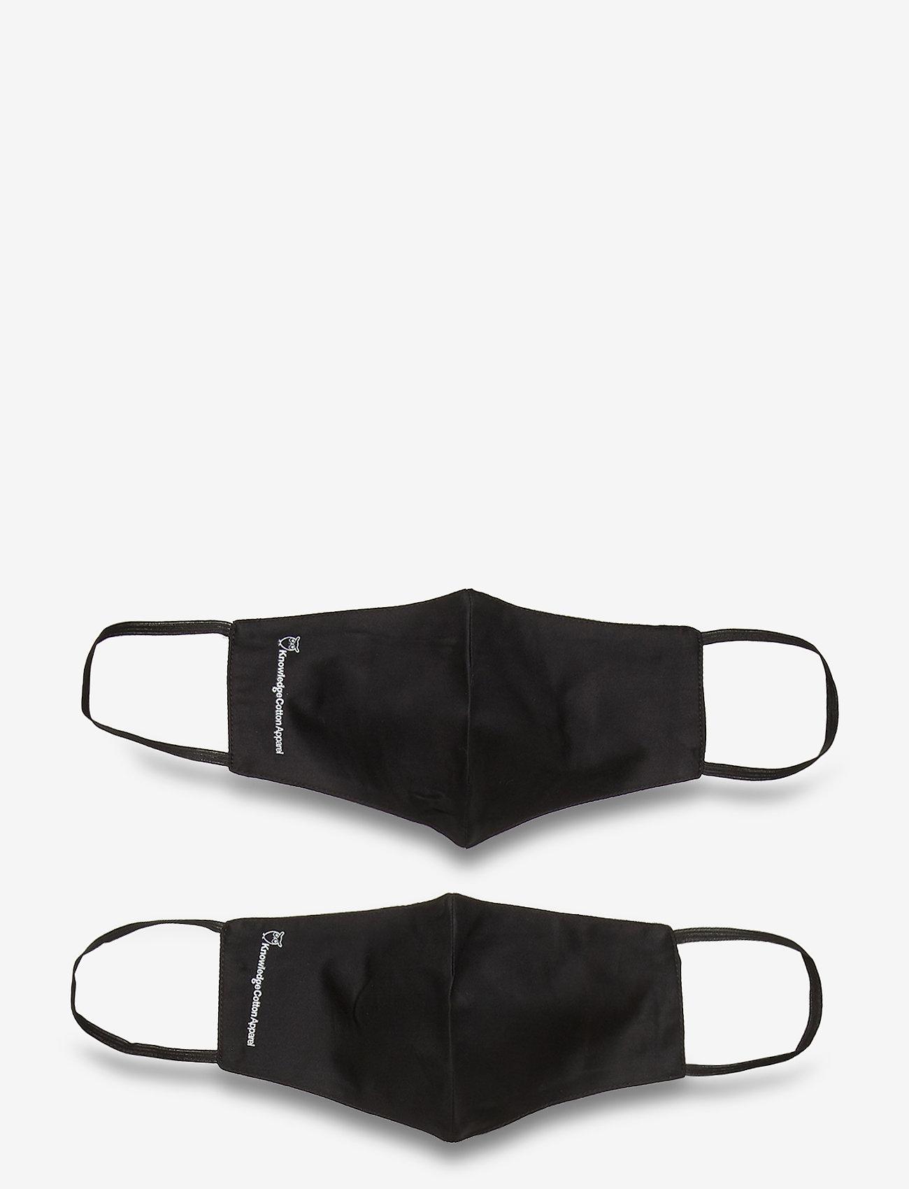 Knowledge Cotton Apparel - 2 pack fashion face mask - GOTS/Veg - akcesoria - black jet - 0