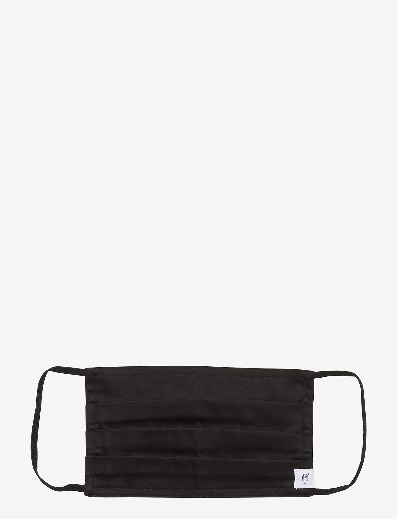 Knowledge Cotton Apparel - Square face mask 1 pack - GOTS/Vega - akcesoria - black jet - 0