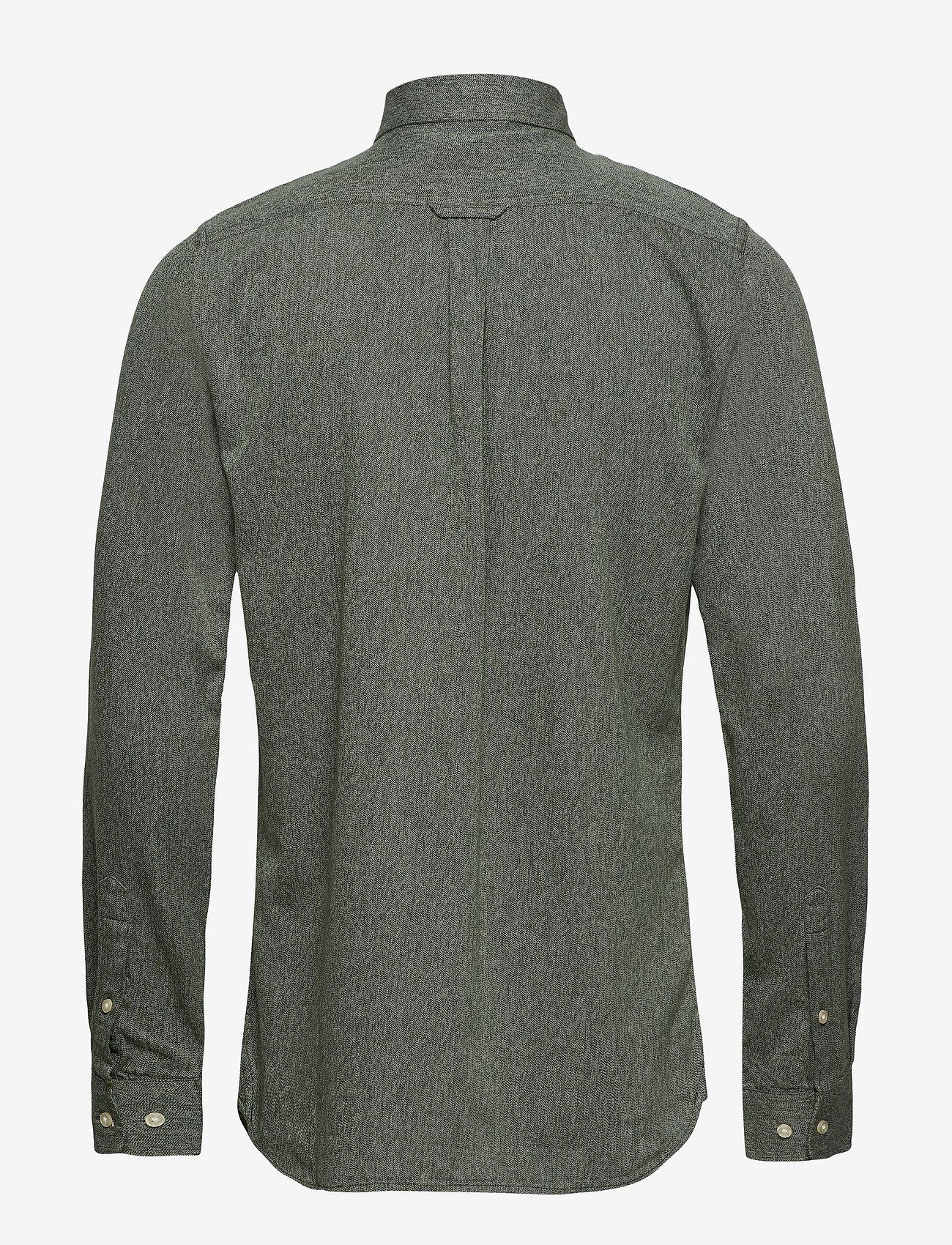 Melange Twill Shirt- Gots (Green Forest) (399.50 kr) - Knowledge Cotton Apparel I1i0GqLY
