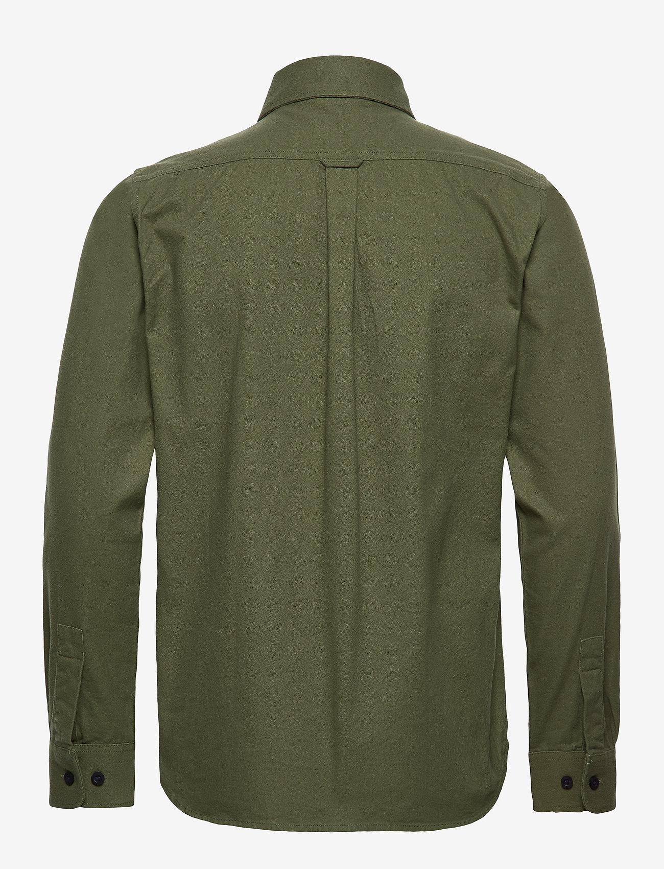 Long Sleeve Moleskin Shirt - Gots/v (Green Forest) - Knowledge Cotton Apparel ipdYq9