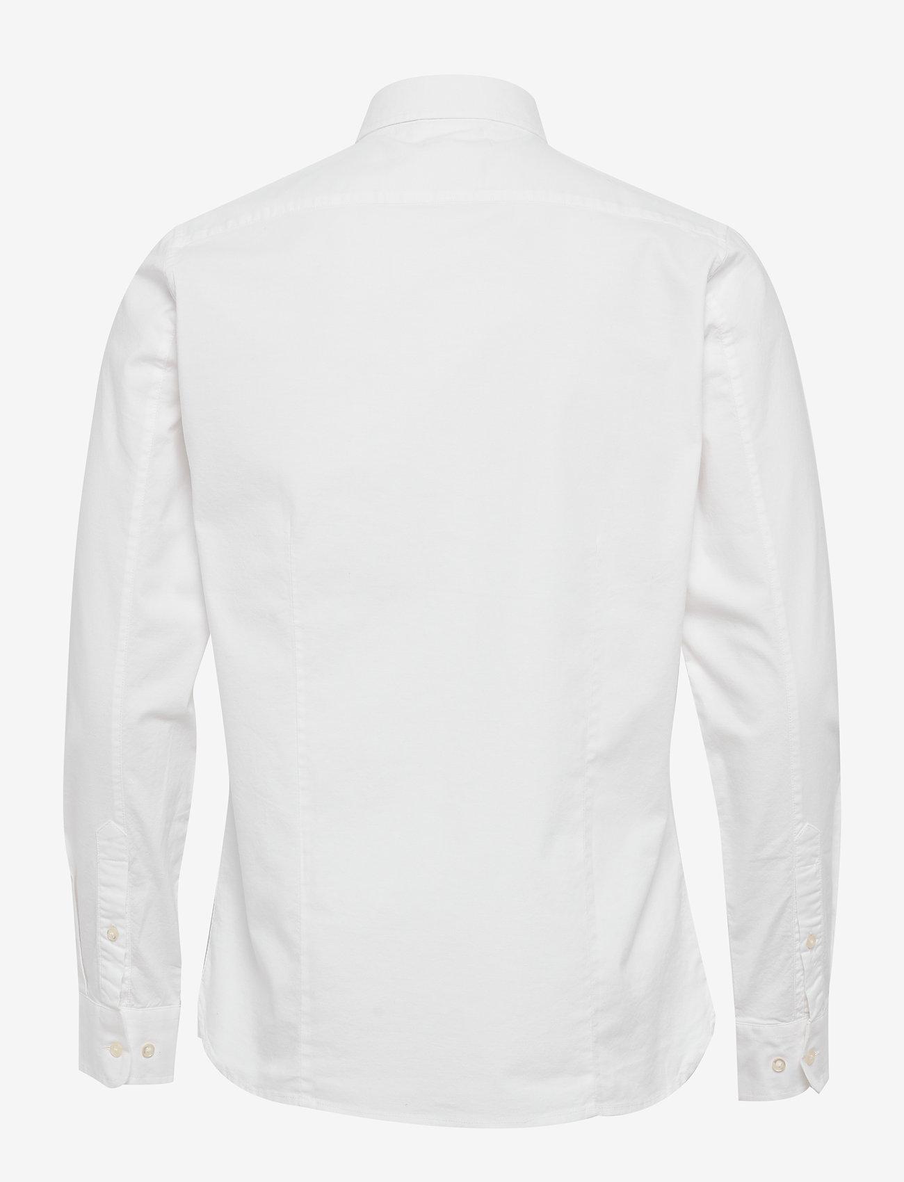 Knowledge Cotton Apparel ELDER regular fit small embr. owl o - Skjorter BRIGHT WHITE - Menn Klær