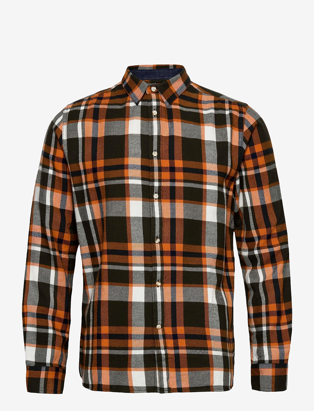 Knowledge Cotton Apparel - LARCH casual fit checked flannel sh - denim overhemden - forrest night - 0