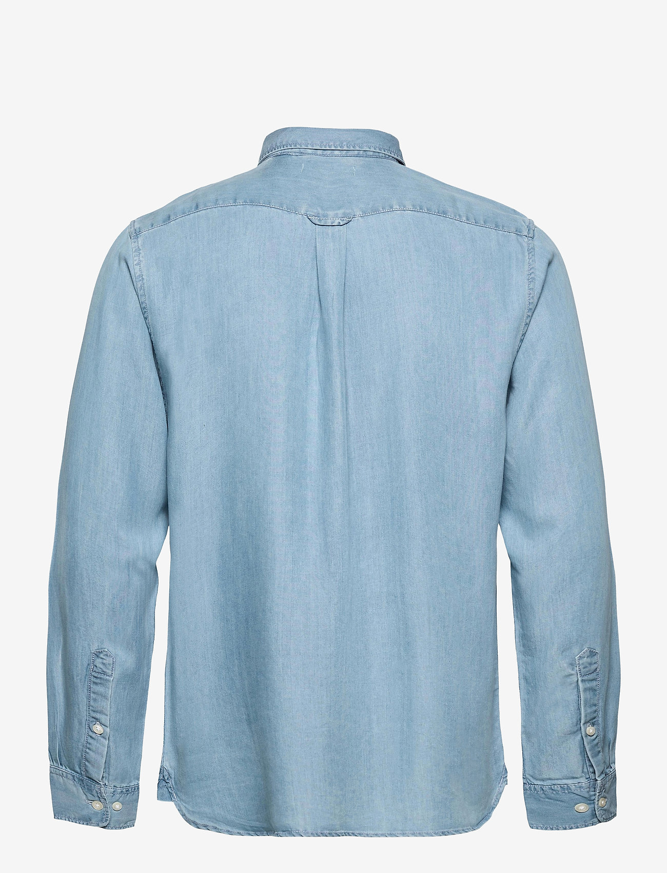 Knowledge Cotton Apparel - ELDER regular fit denim Tencel™ shi - koszule w kratkę - vintage indigo - 1