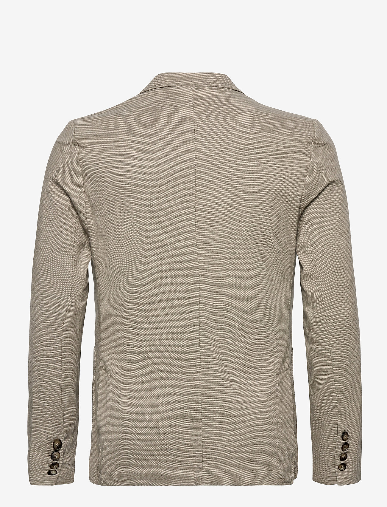 Knowledge Cotton Apparel - Structured blazer - single breasted blazers - feather gray - 1