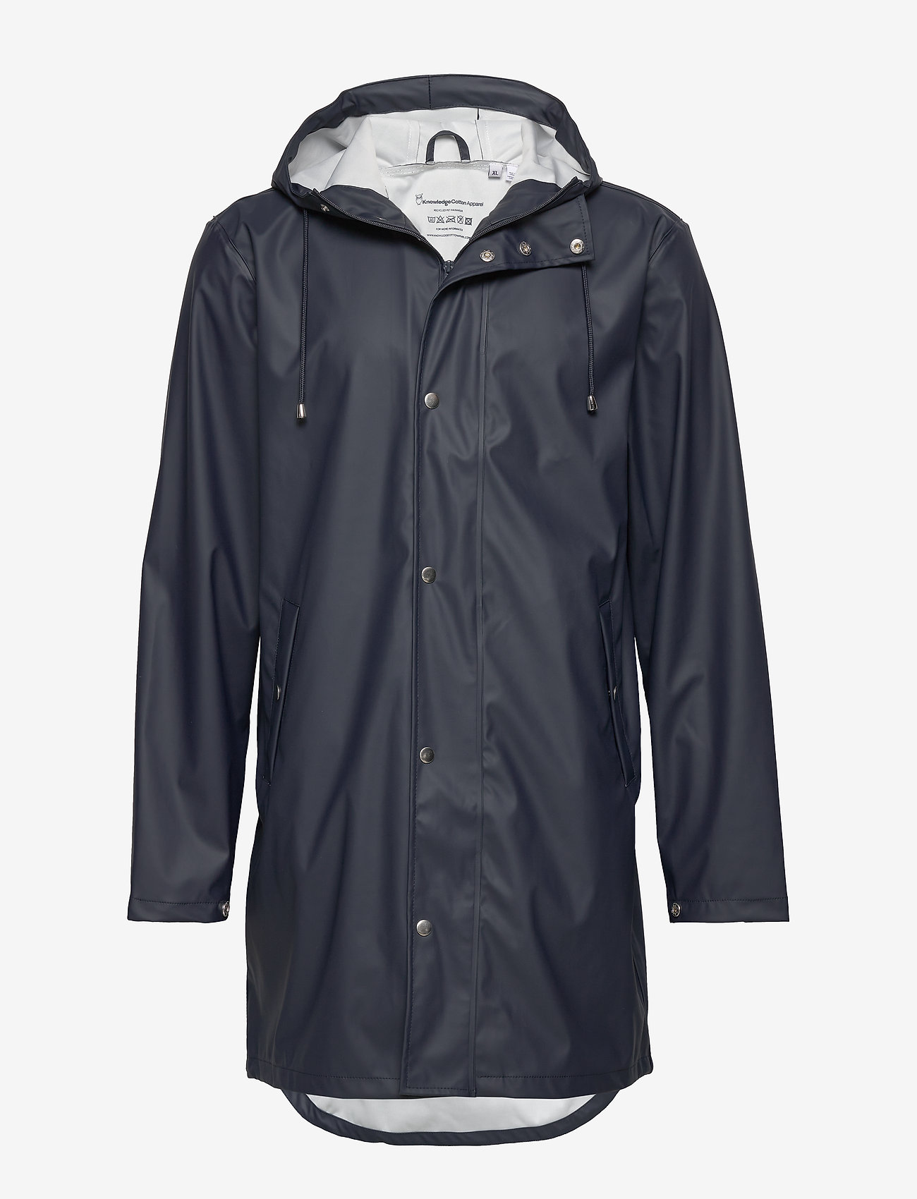 Knowledge Cotton Apparel - Long rain jacket /Vegan - sadetakit - total eclipse - 0