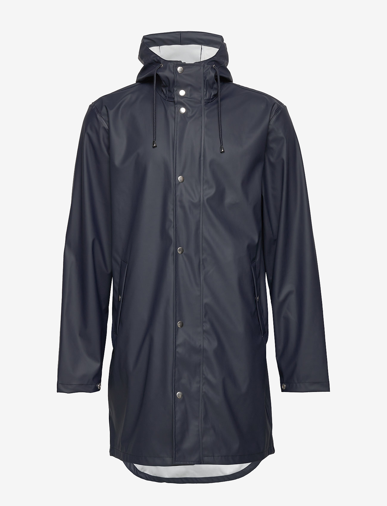 Knowledge Cotton Apparel - Long rain jacket /Vegan - sadetakit - total eclipse - 1