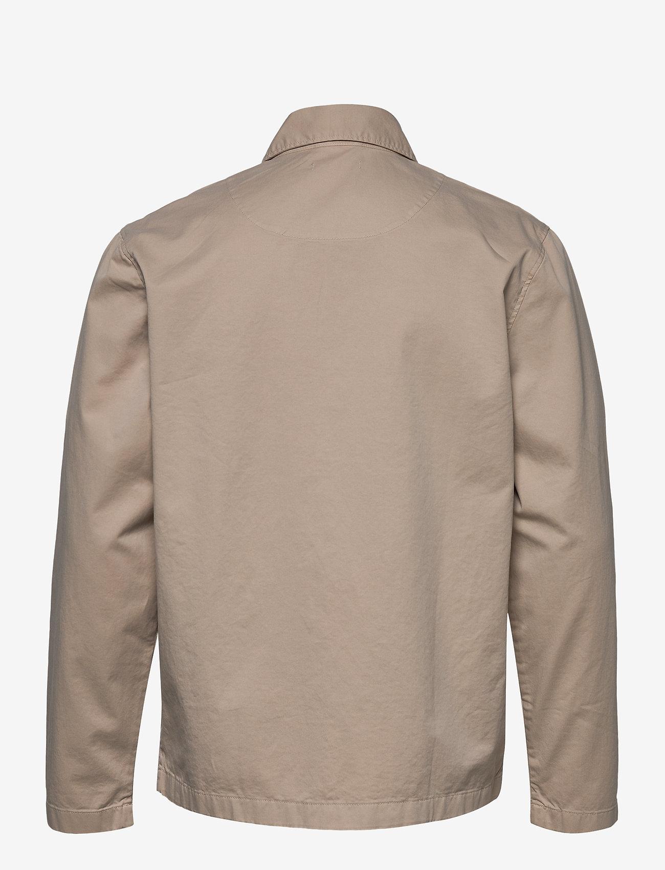 Knowledge Cotton Apparel - PINE poplin overshirt - GOTS/Vegan - kleding - light feather gray - 1