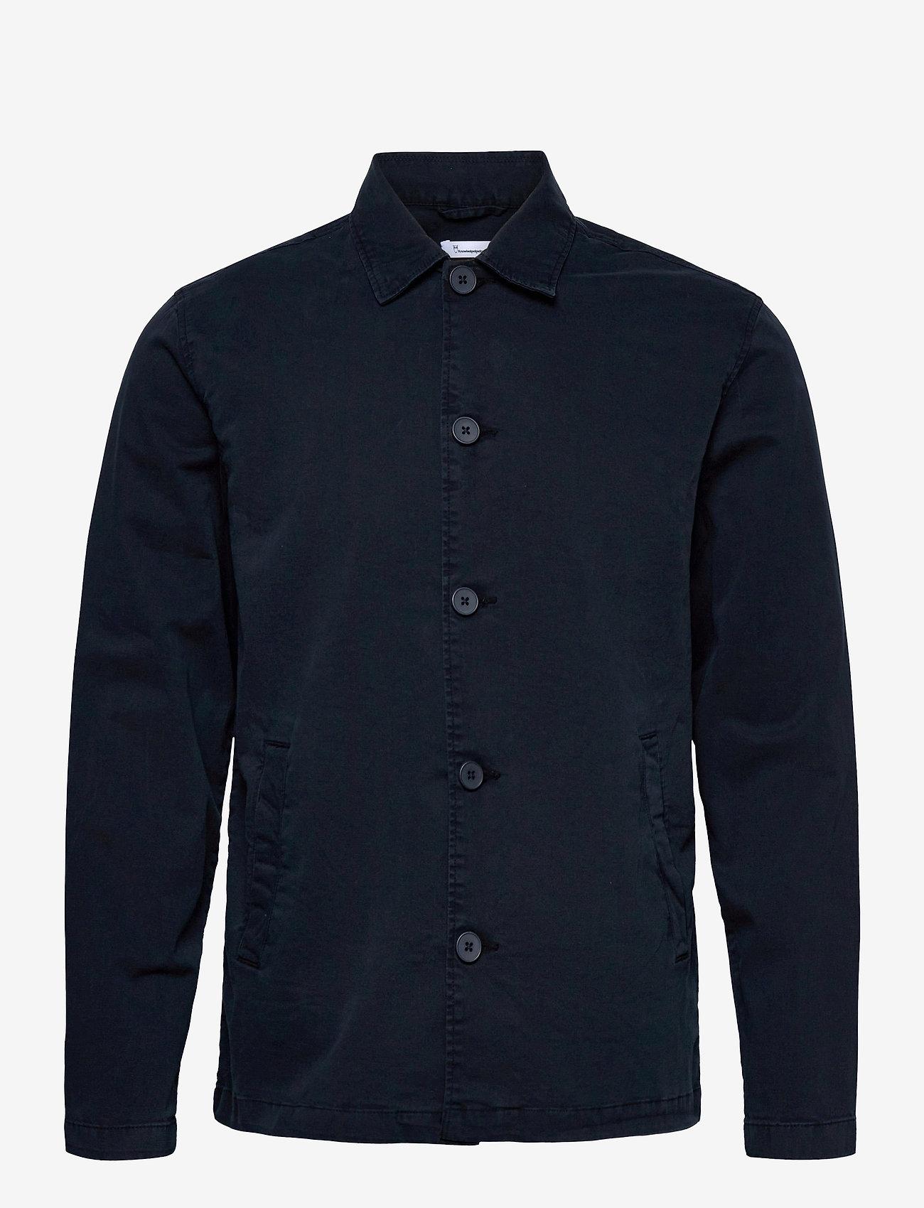 Knowledge Cotton Apparel - PINE poplin overshirt - GOTS/Vegan - vêtements - total eclipse - 0