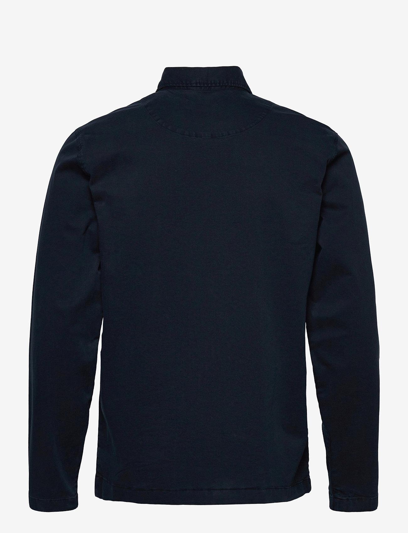 Knowledge Cotton Apparel - PINE poplin overshirt - GOTS/Vegan - vêtements - total eclipse - 1