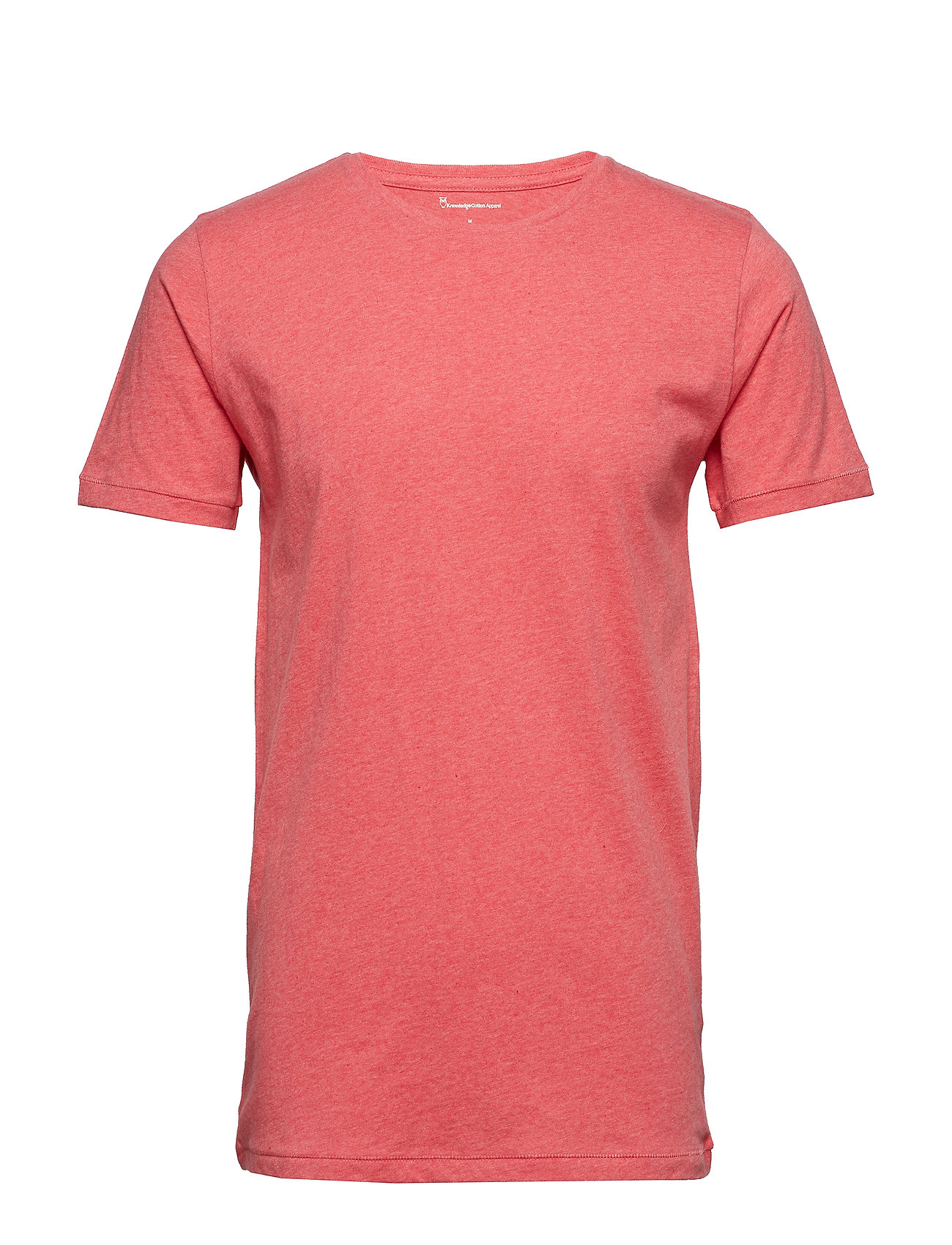 Knowledge Cotton Apparel ALDER basic tee - GOTS/Vegan - CORAL MELANGE