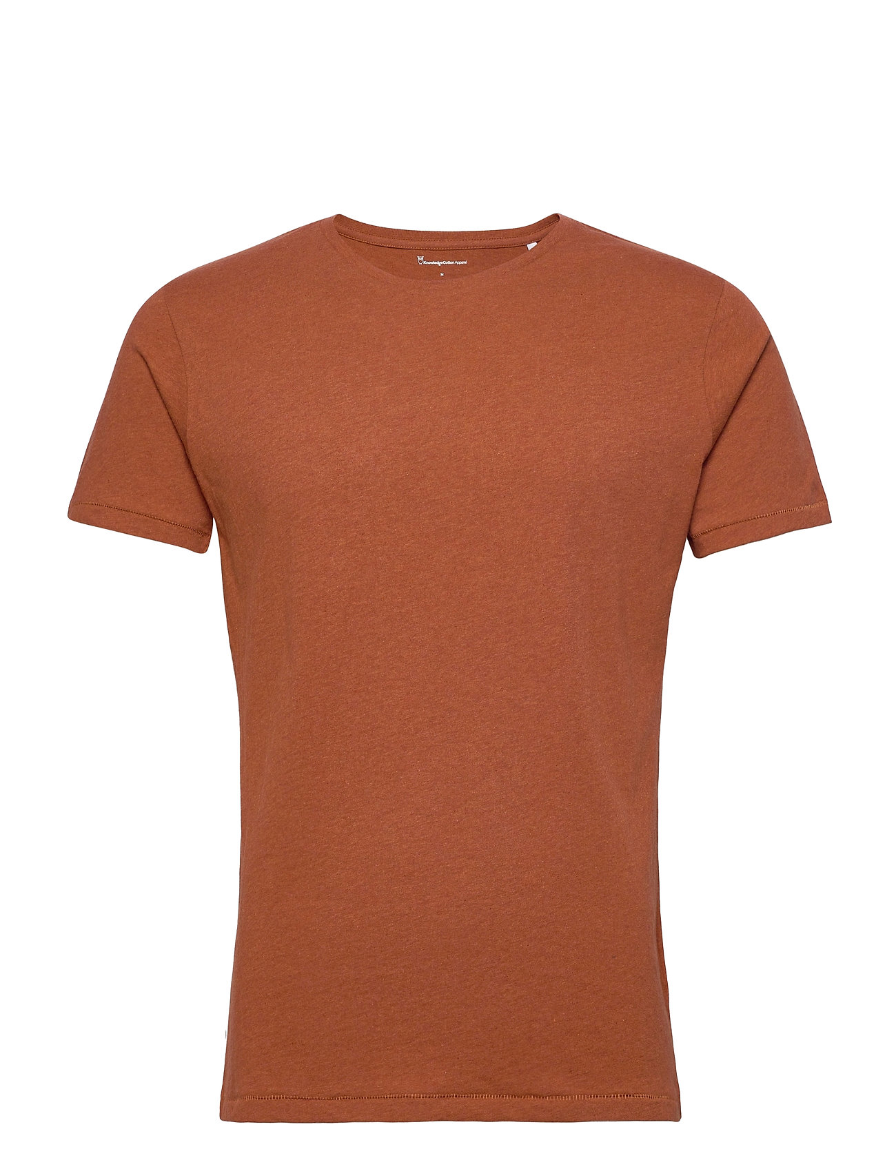 Knowledge Cotton Apparel ALDER basic tee - GOTS/Vegan - RUST MELANGE