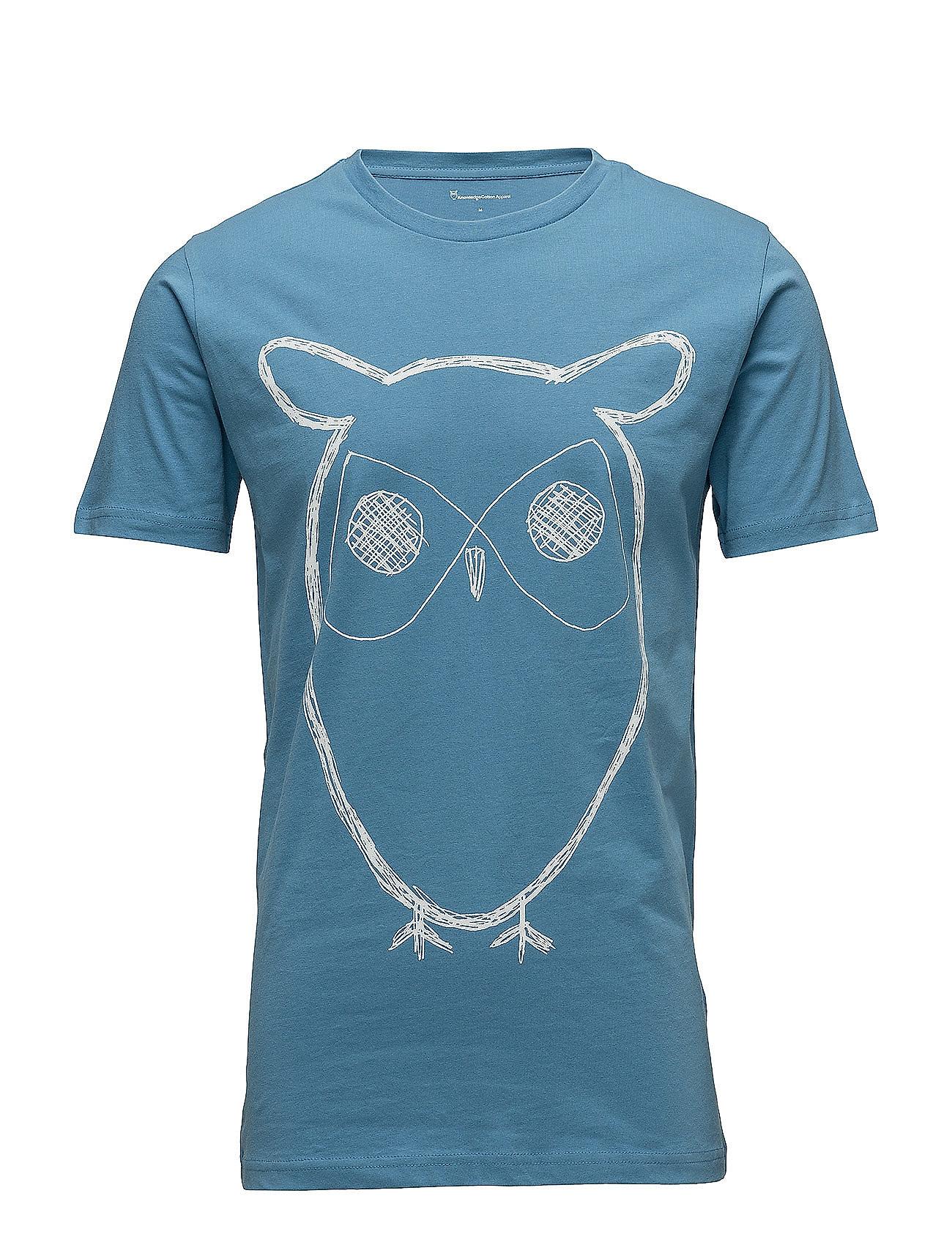 Knowledge Cotton Apparel ALDER big owl tee - GOTS/Vegan - NIAGARA