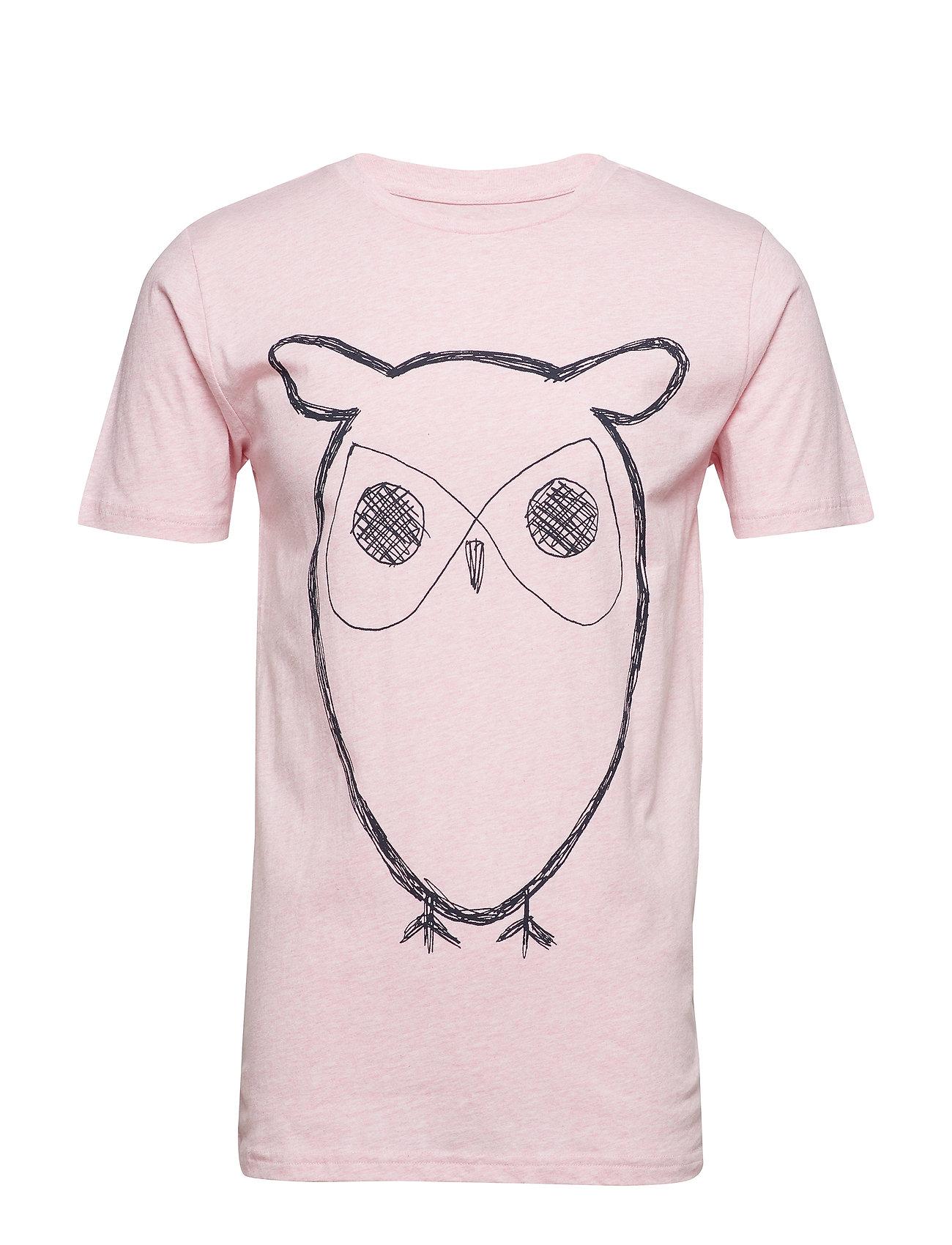 Knowledge Cotton Apparel ALDER big owl tee - GOTS/Vegan - PINK MELANGE