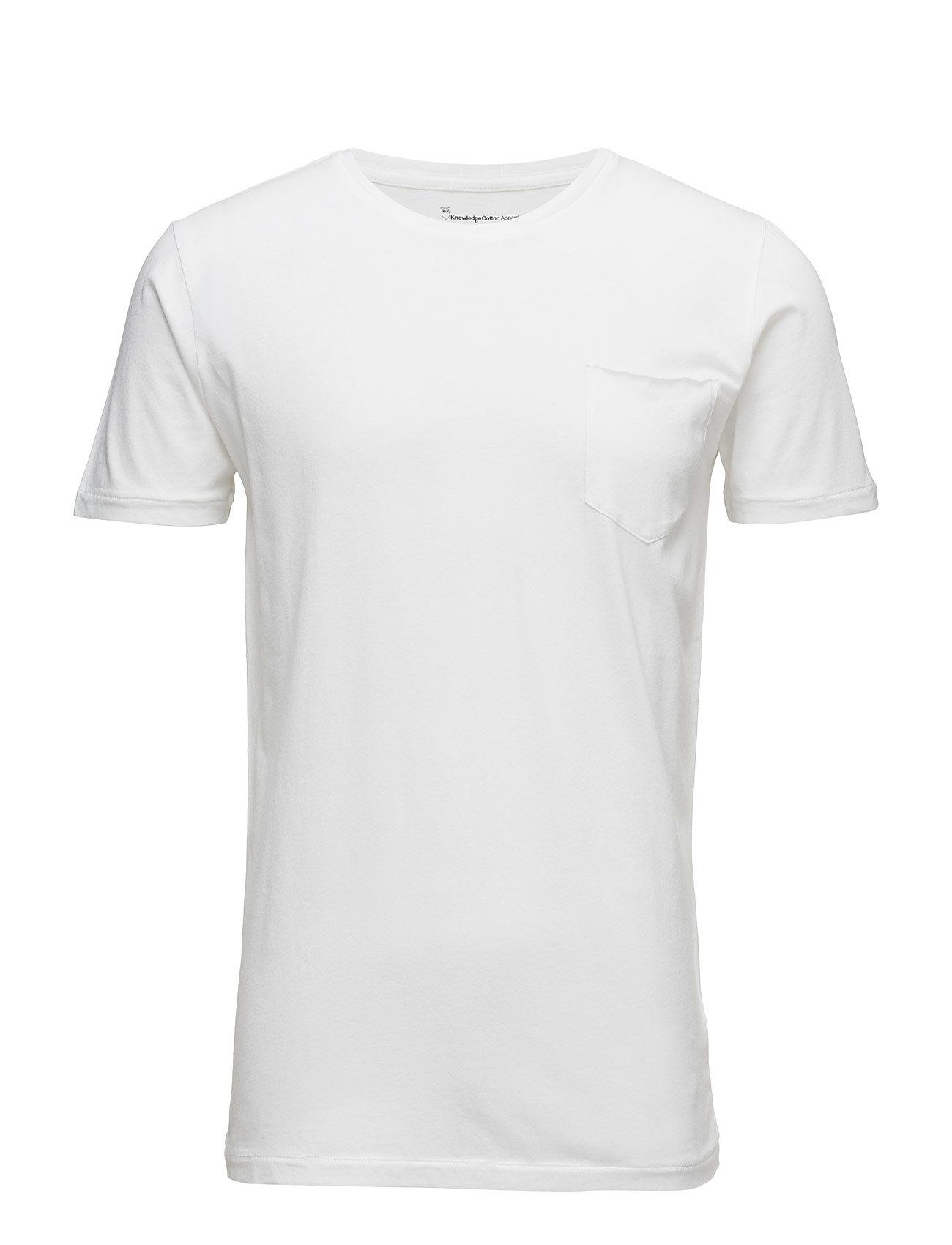 Knowledge Cotton Apparel ALDER tee - BRIGHT WHITE