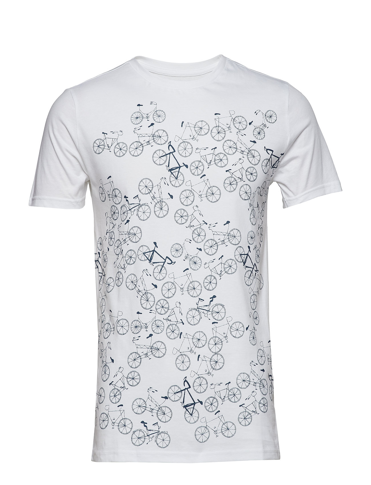 Knowledge Cotton Apparel T shirt with bike front print GOT Ögrönlar