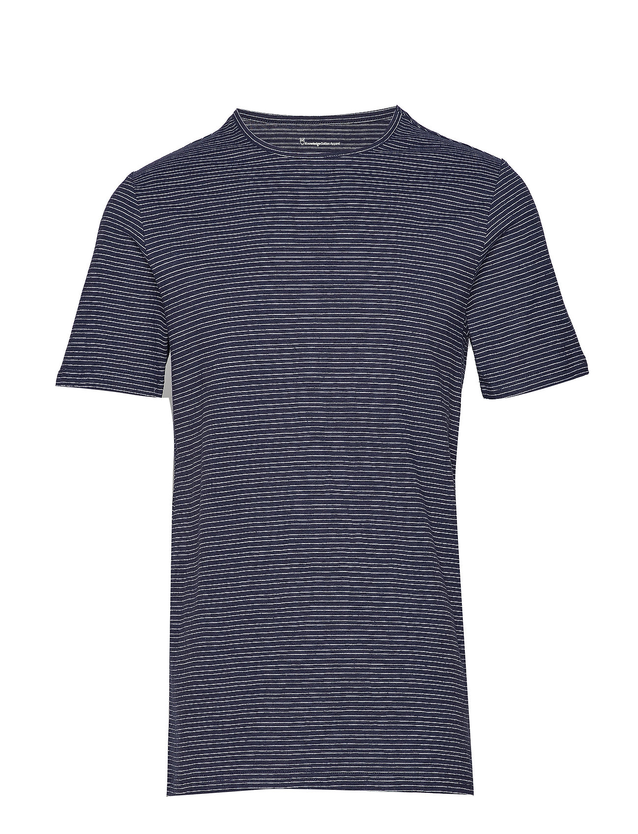 Knowledge Cotton Apparel O neck striped T shirt OCS Ögrönlar