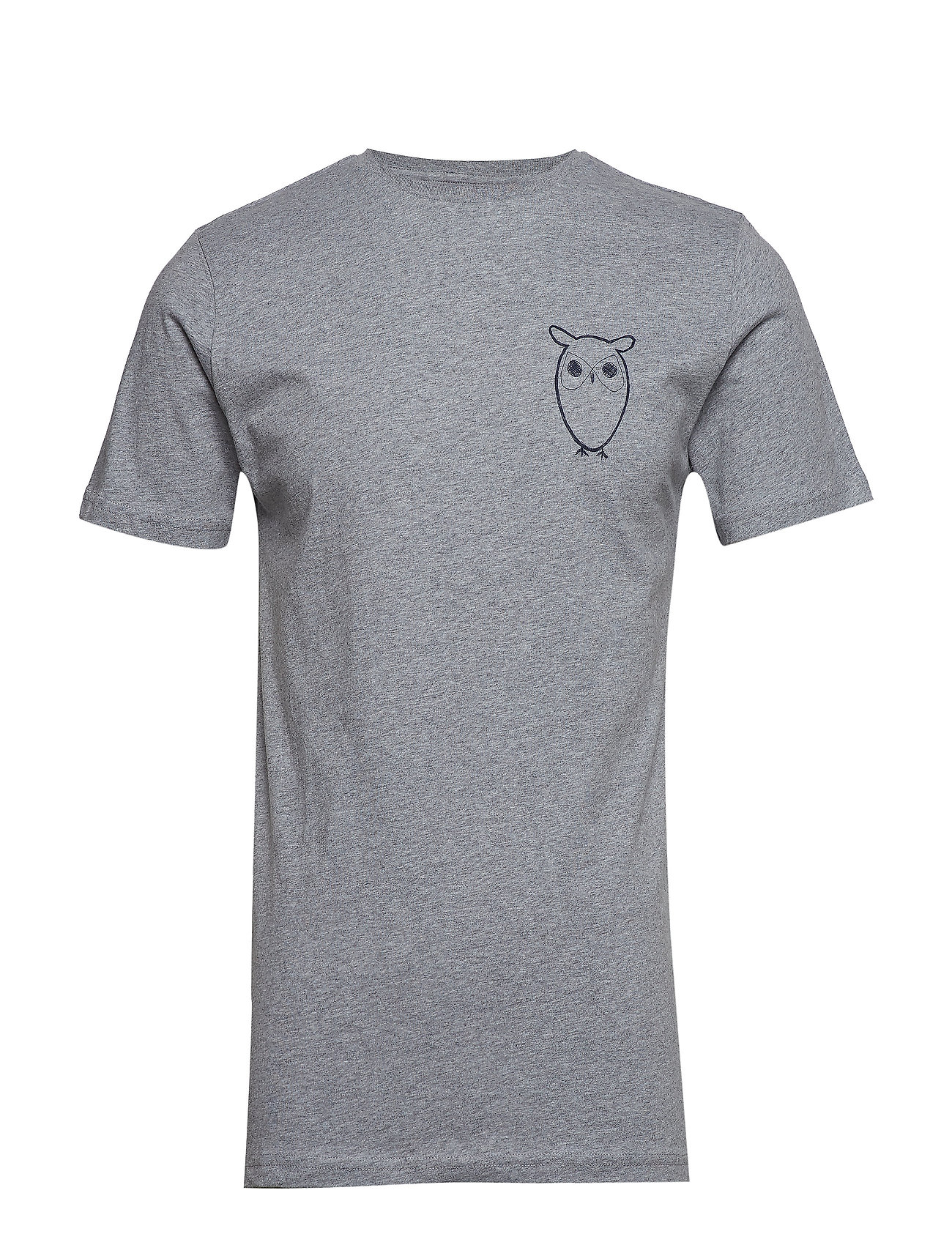 Image of T-Shirt With Owl Chest Logo - Gots T-shirt Grå Knowledge Cotton Apparel (3169766237)