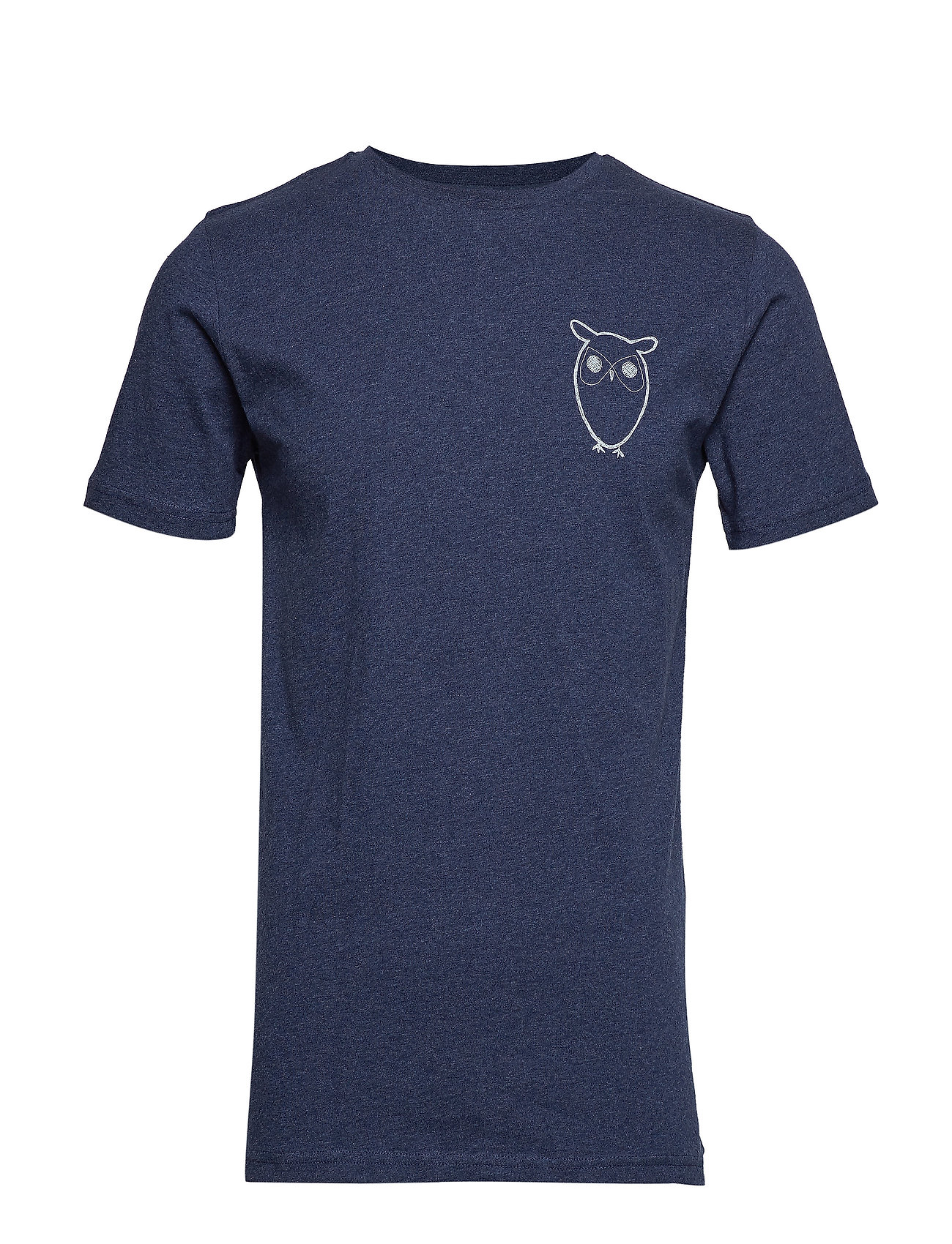 Image of T-Shirt With Owl Chest Logo - Gots T-shirt Blå Knowledge Cotton Apparel (3169766239)