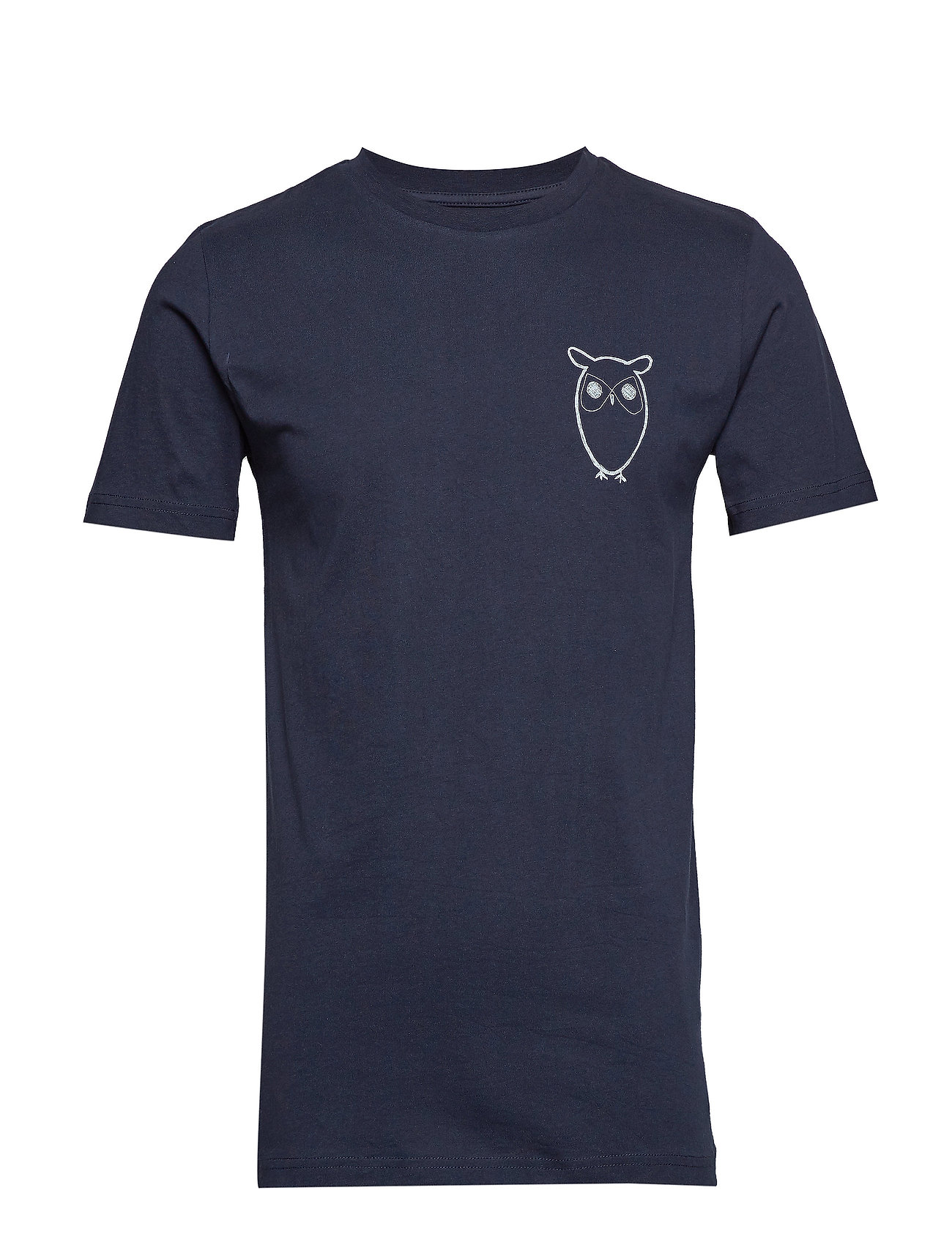 Image of T-Shirt With Owl Chest Logo - Gots T-shirt Blå Knowledge Cotton Apparel (3169766235)