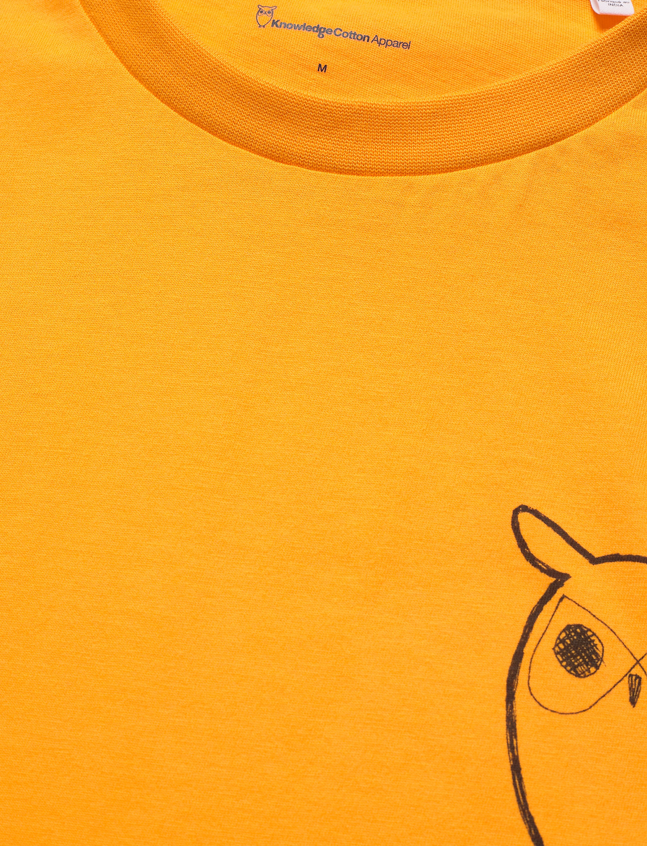 Knowledge Cotton Apparel ALDER owl chest tee - GOTS/Vegan - T-skjorter ZENNIA YELLOW - Menn Klær