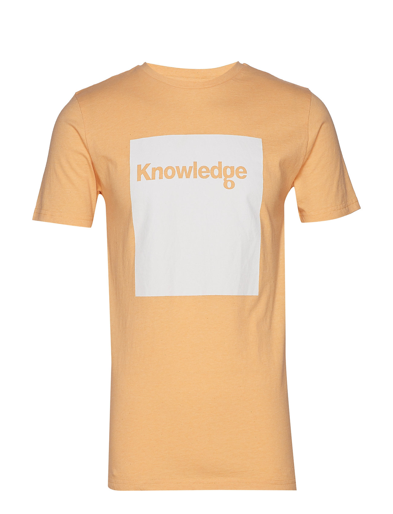 Image of T-Shirt With Square Logo - Gots T-shirt Knowledge Cotton Apparel (3169766275)