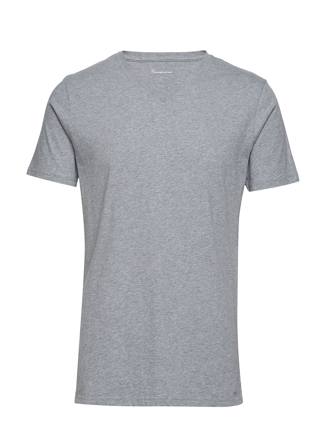 Knowledge Cotton Apparel ALDER basic v-neck tee - GOTS/Vegan - GREY MELANGE