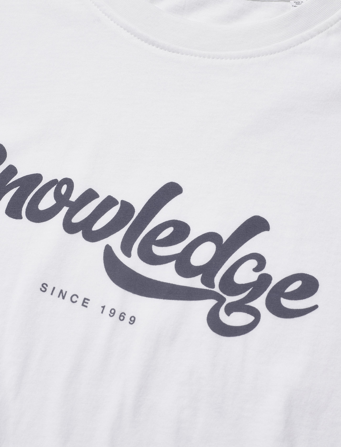 Knowledge Cotton Apparel ALDER big knowledge tee - GOTS/Vega - T-skjorter BRIGHT WHITE - Menn Klær