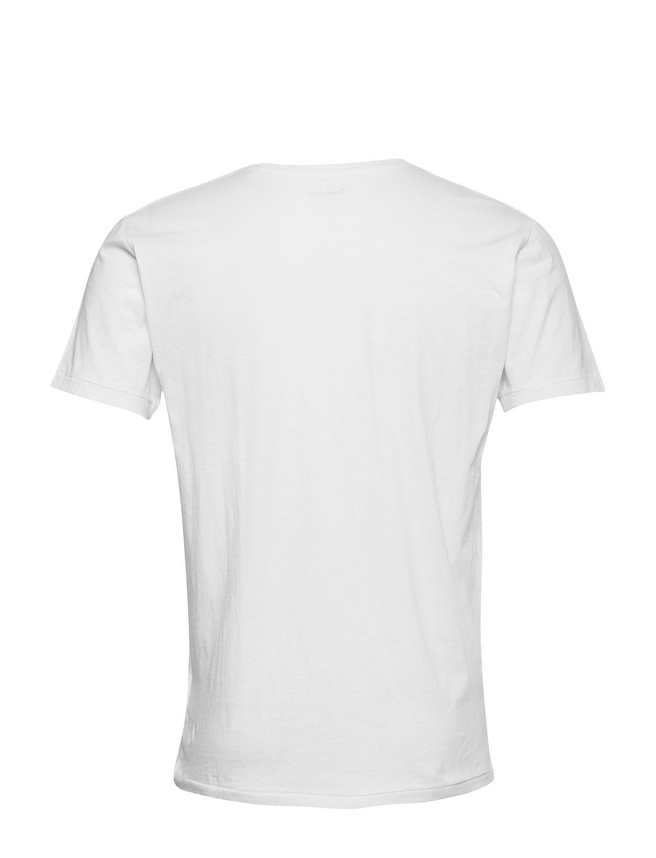 Knowledge Cotton Apparel - ALDER 5 pack basic tee - flat packe - basic t-shirts - bright white - 7