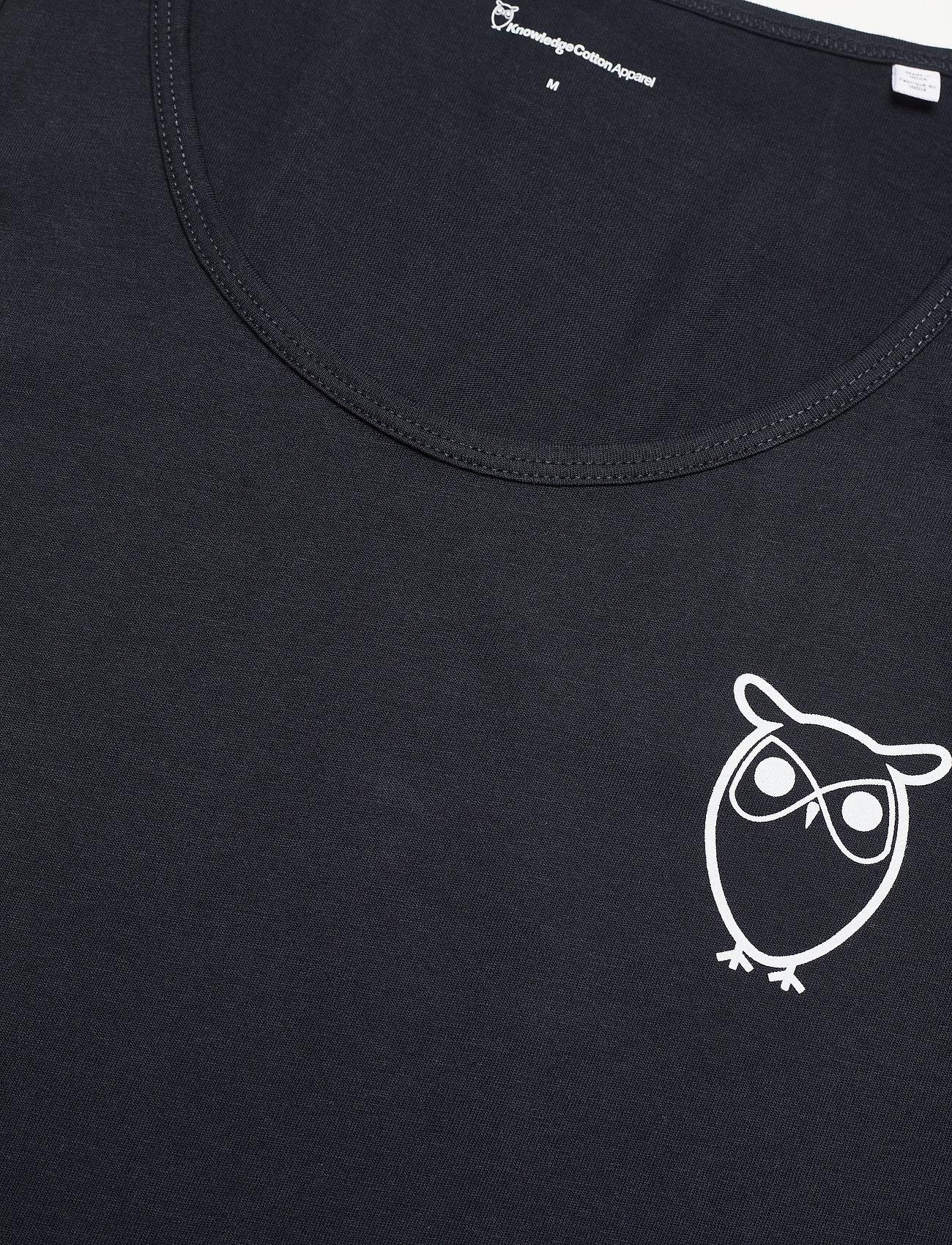 Knowledge Cotton Apparel - PALM owl chest tank top - GOTS/Vega - t-shirts sans manches - total eclipse - 2