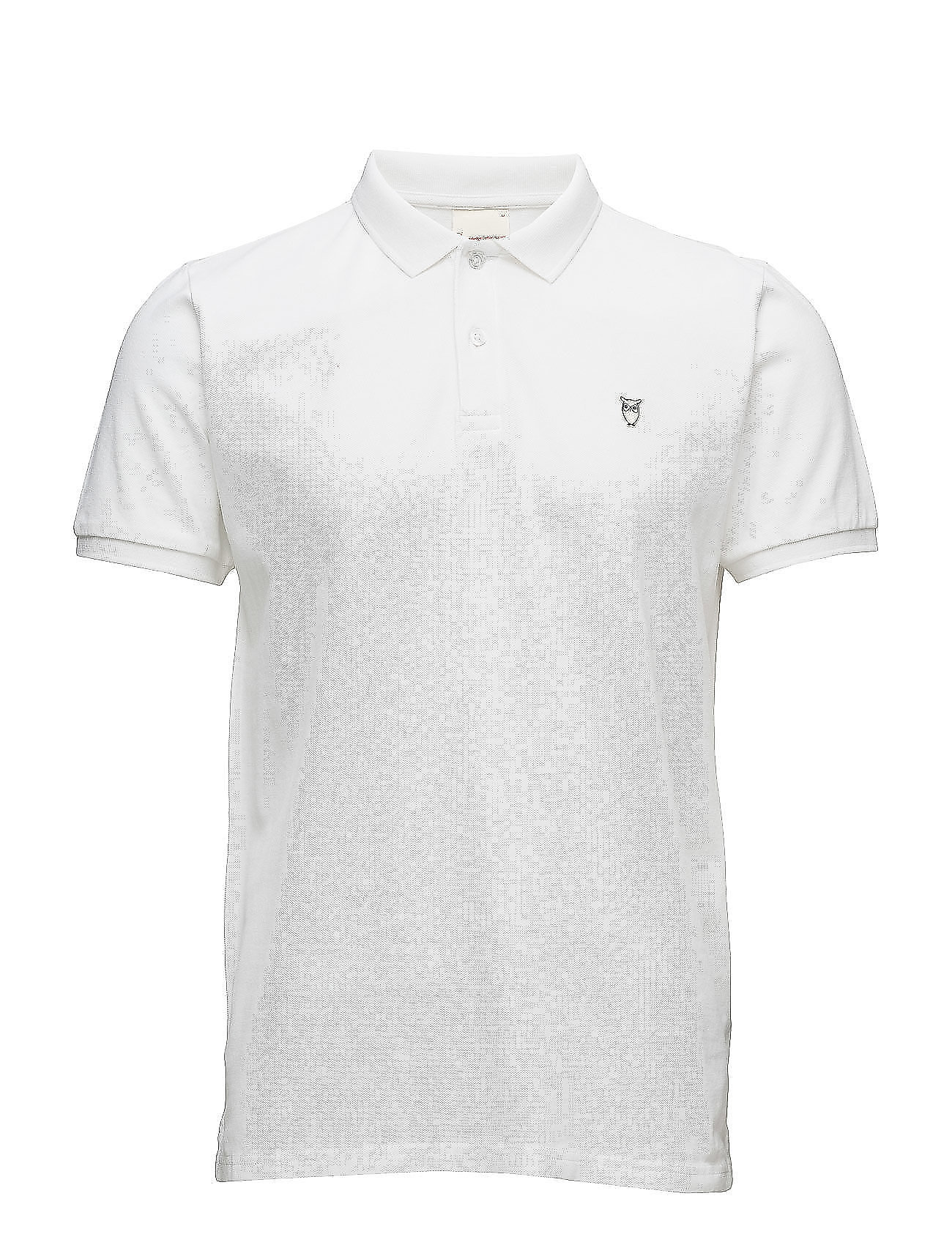 Knowledge Cotton Apparel Pique Polo -  GOTS/Vegan - BRIGHT WHITE