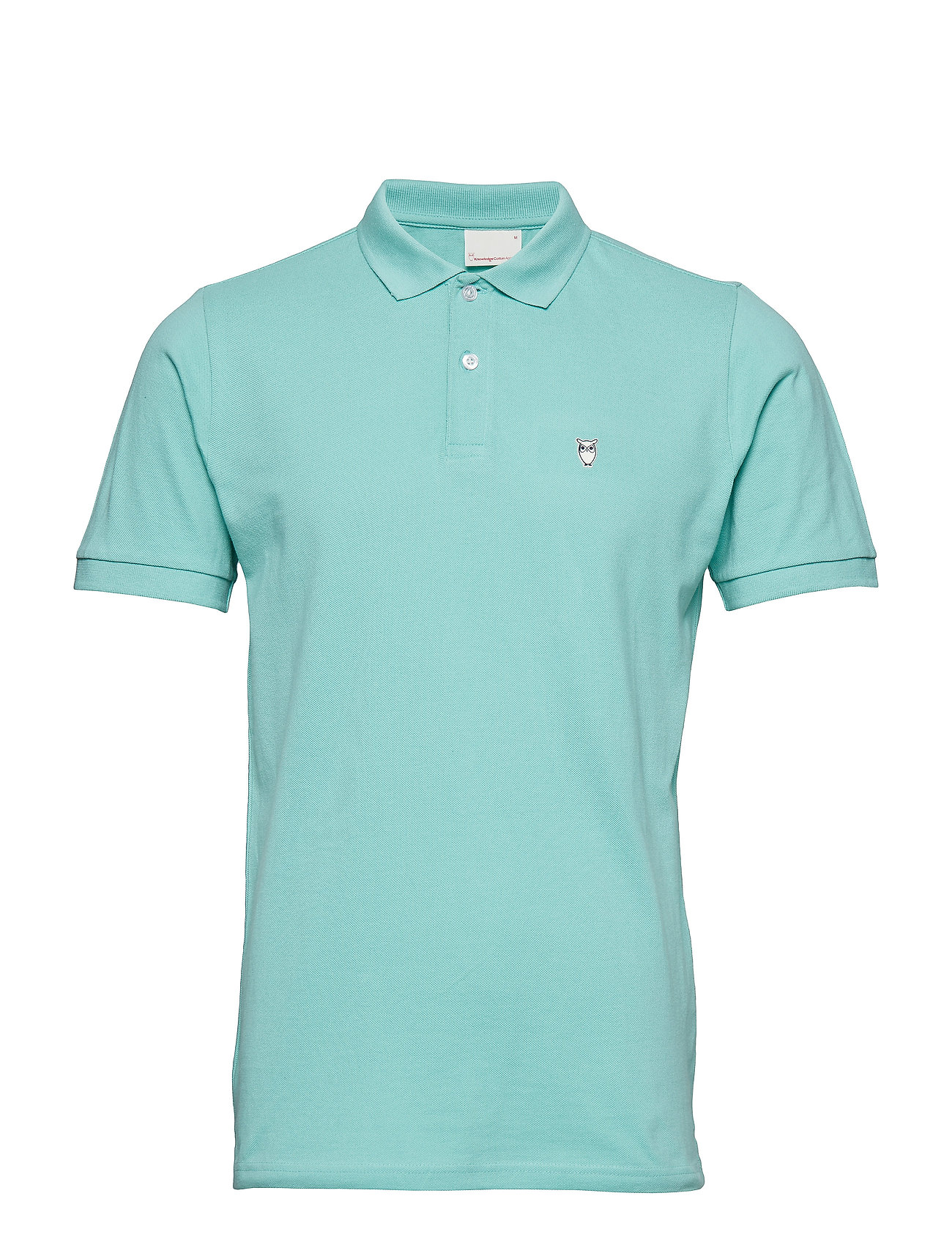 Knowledge Cotton Apparel Pique Polo -  GOTS/Vegan - DUSTY JADE GREEN