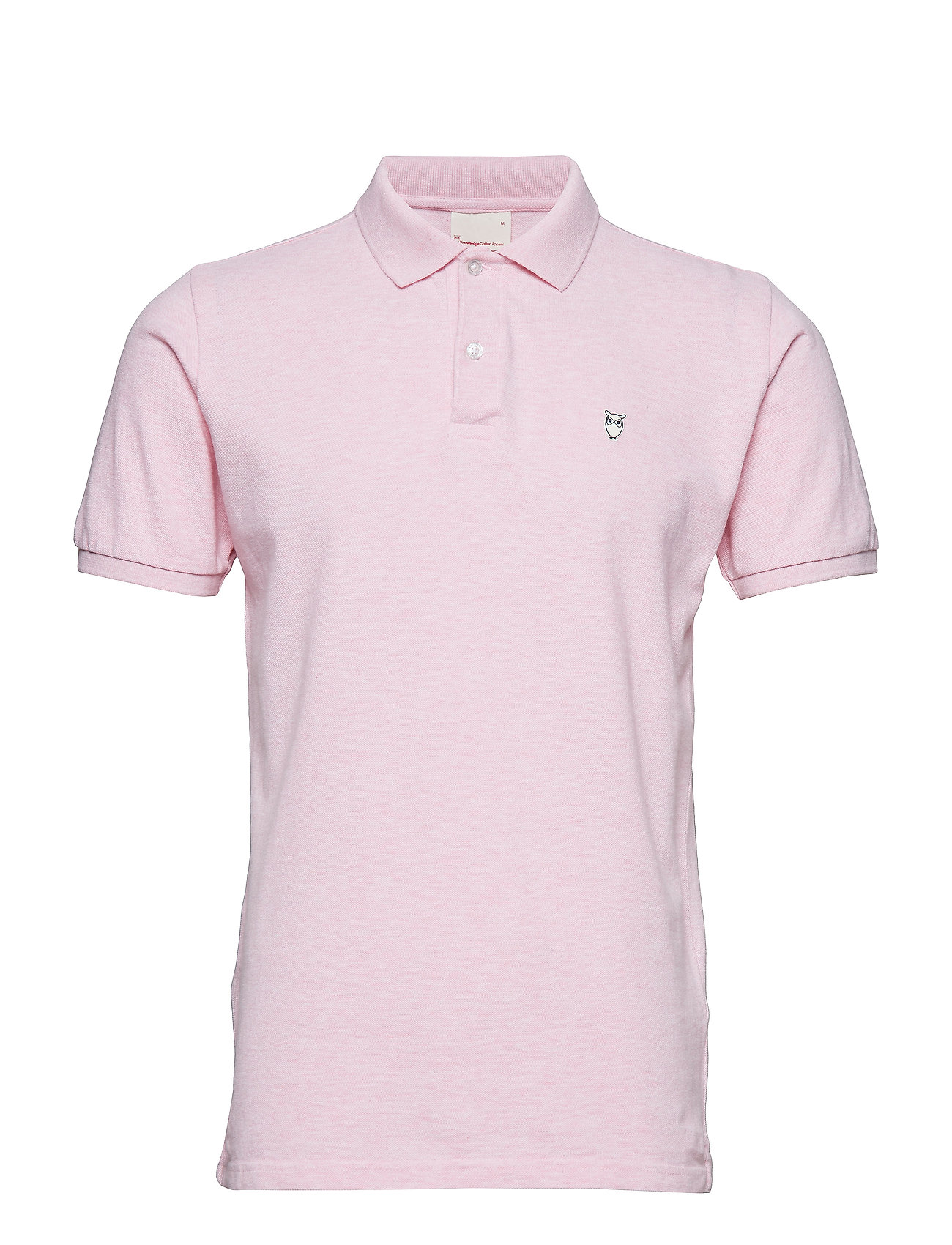Knowledge Cotton Apparel Pique Polo -  GOTS/Vegan - PINK MELANGE