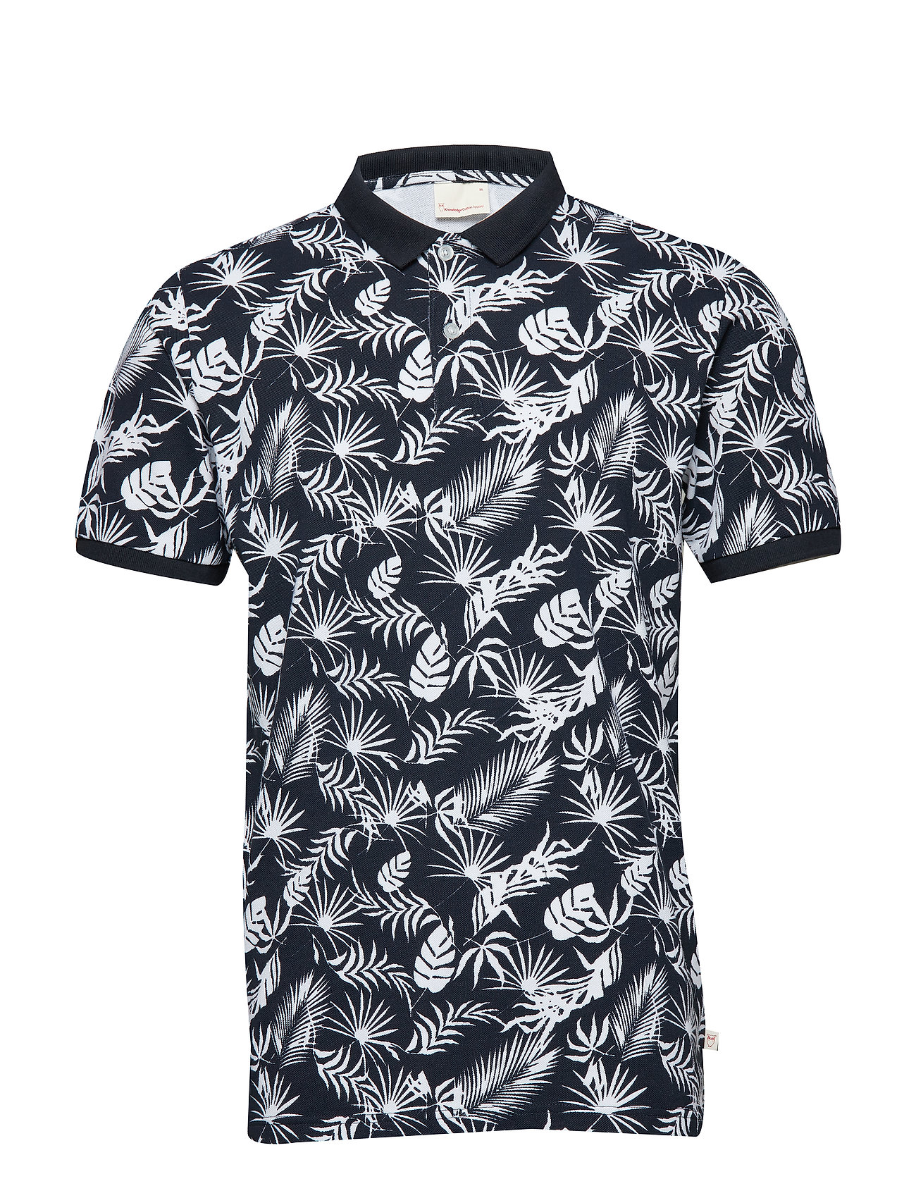 Knowledge Cotton Apparel Polo with print - leaf print - GOTS - TOTAL ECLIPSE