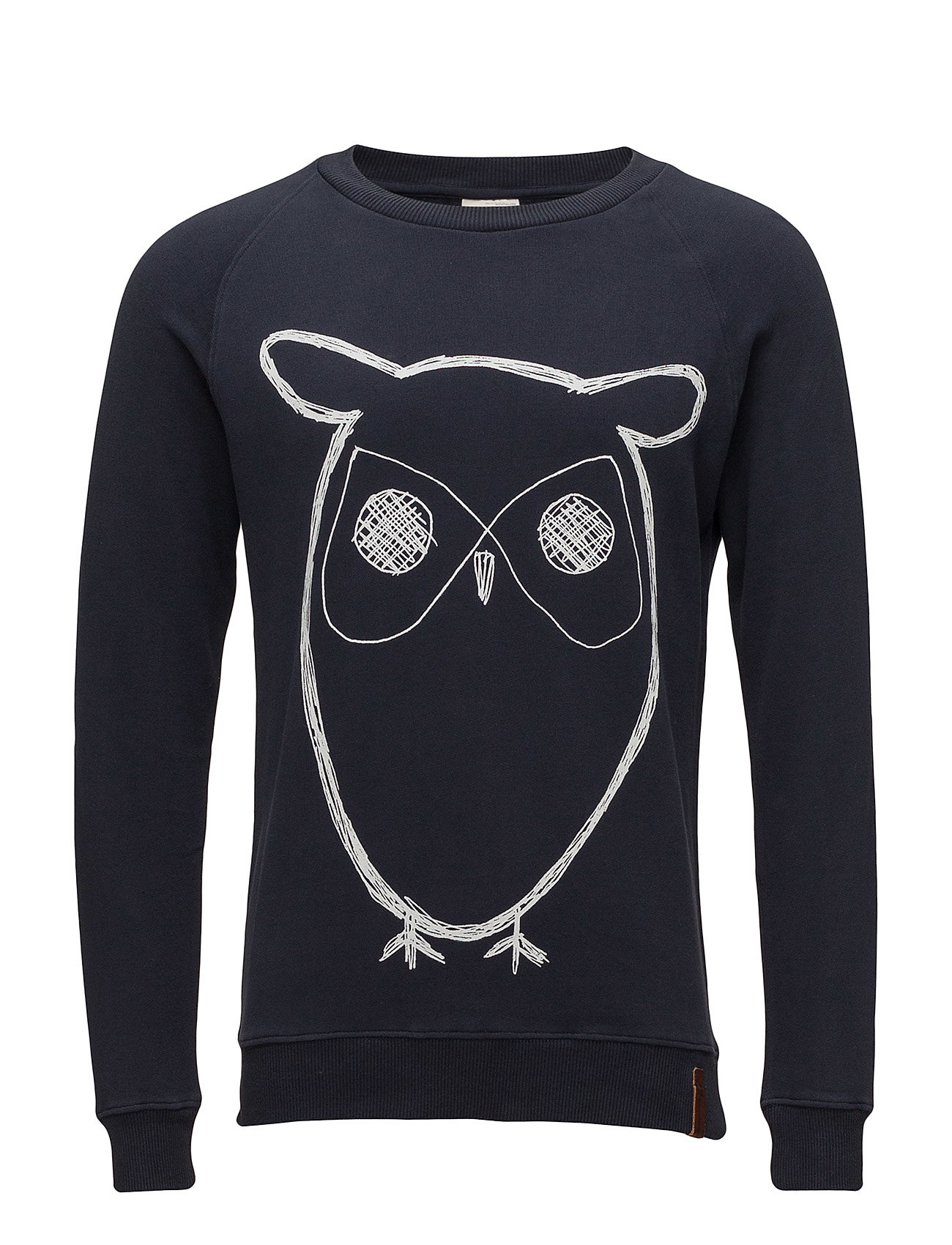 Knowledge Cotton Apparel ELM big owl sweat - GOTS/Vegan - TOTAL ECLIPSE