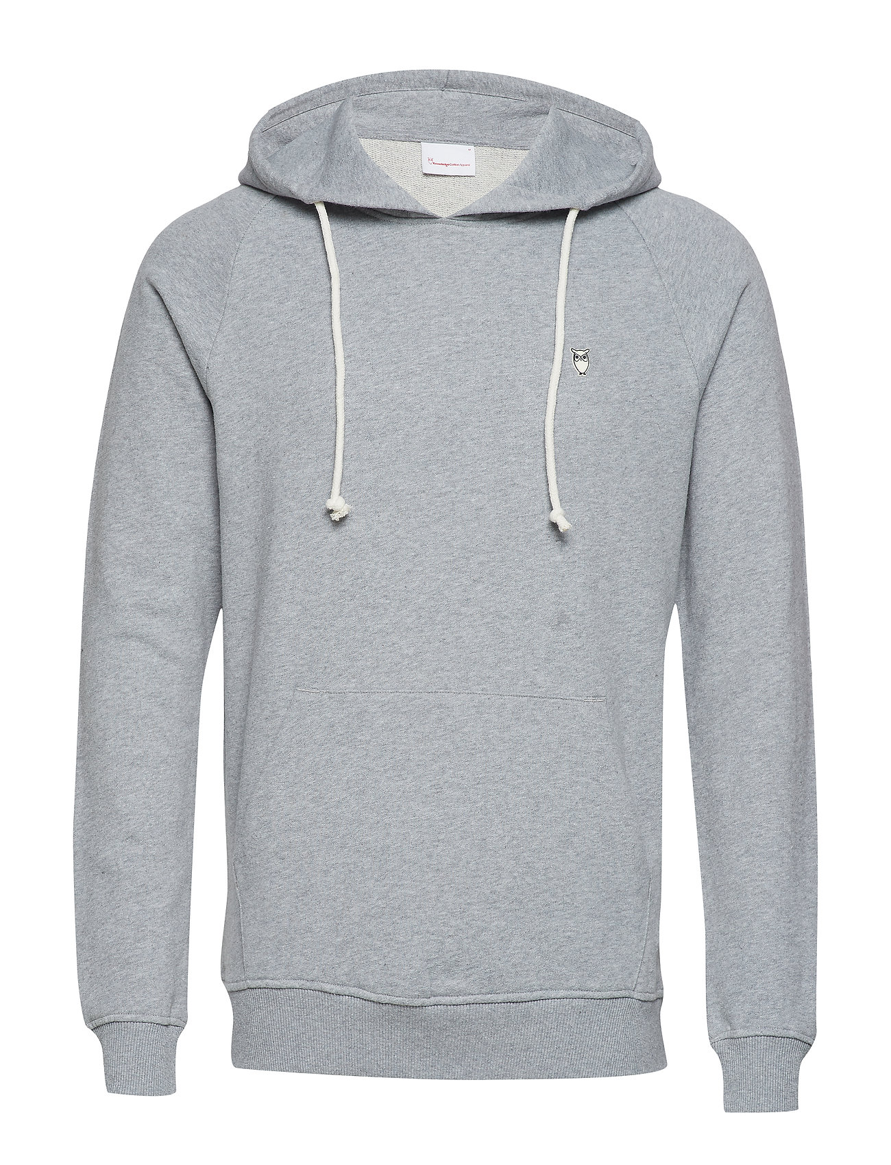 Knowledge Cotton Apparel ELM small owl hoodie sweat - GOTS/V - GREY MELANGE
