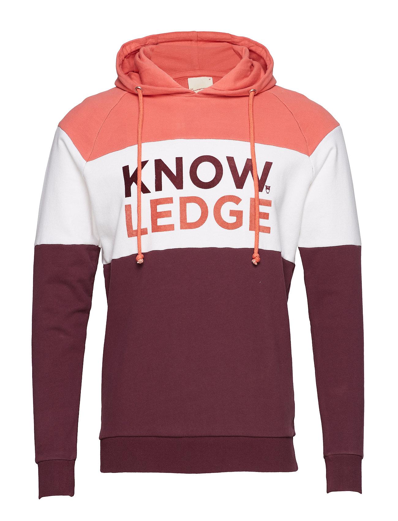 Knowledge Cotton Apparel Hood sweat Knowledge - OCS/Vegan - MAUVE WINE