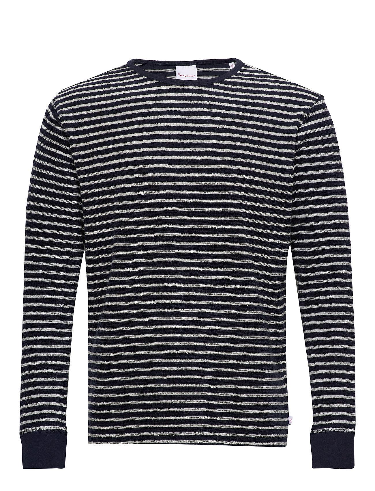 Knowledge Cotton Apparel Striped velvet sweat - Vegan - TOTAL ECLIPSE