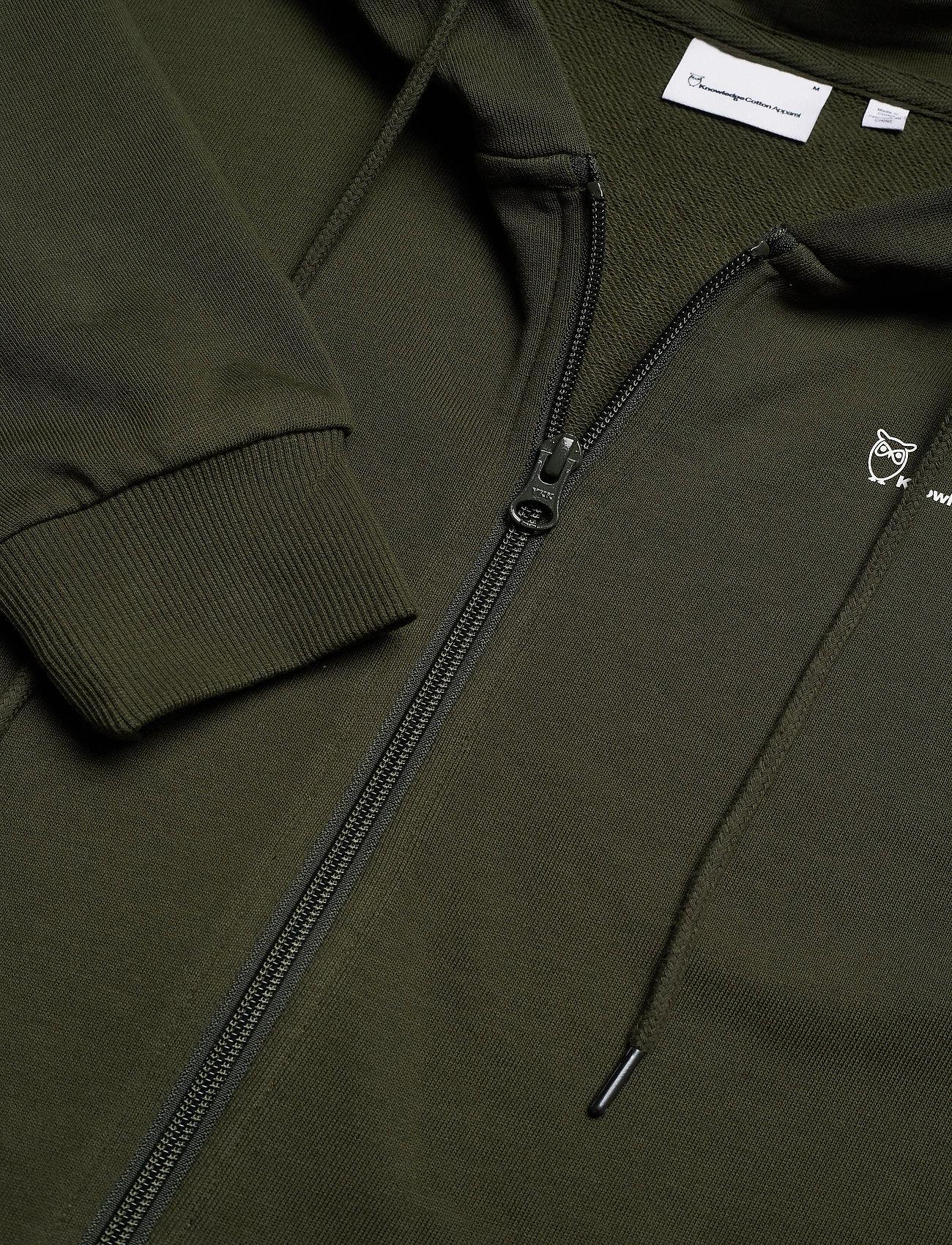 Knowledge Cotton Apparel - ELM knowledge hood zip sweat - GOTS - hoodies - forrest night - 2
