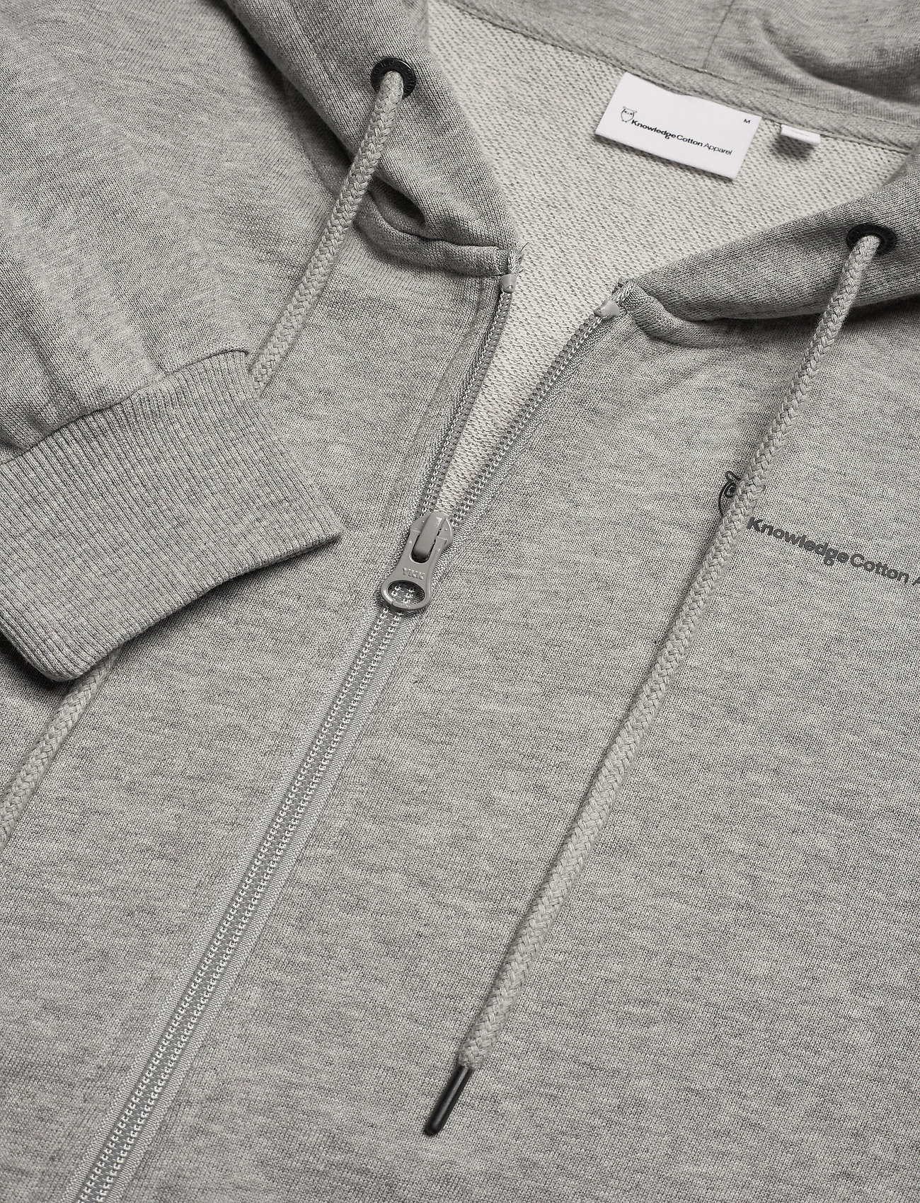 Knowledge Cotton Apparel - ELM knowledge hood zip sweat - GOTS - hoodies - grey melange - 2