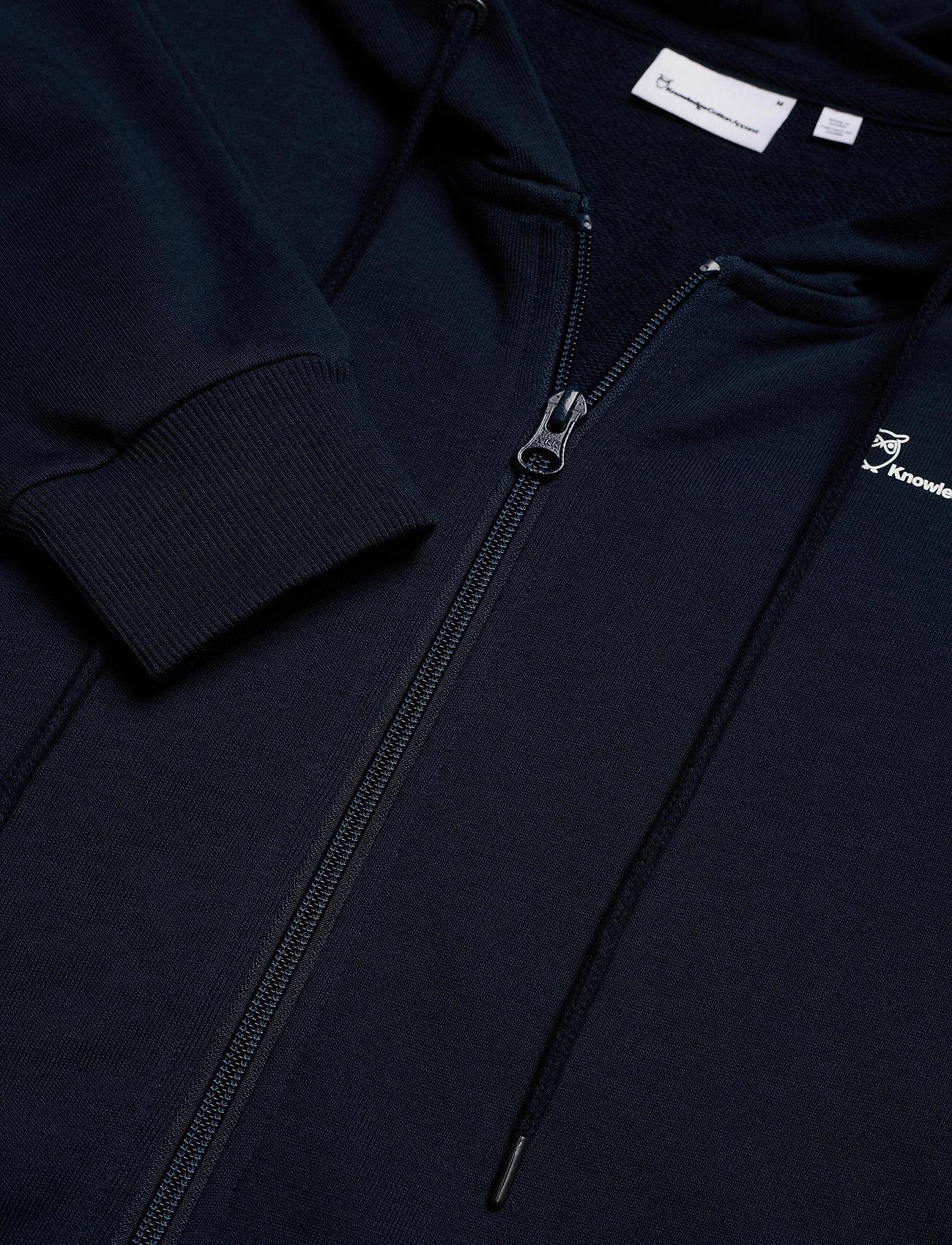 Knowledge Cotton Apparel - ELM knowledge hood zip sweat - GOTS - hoodies - total eclipse - 2