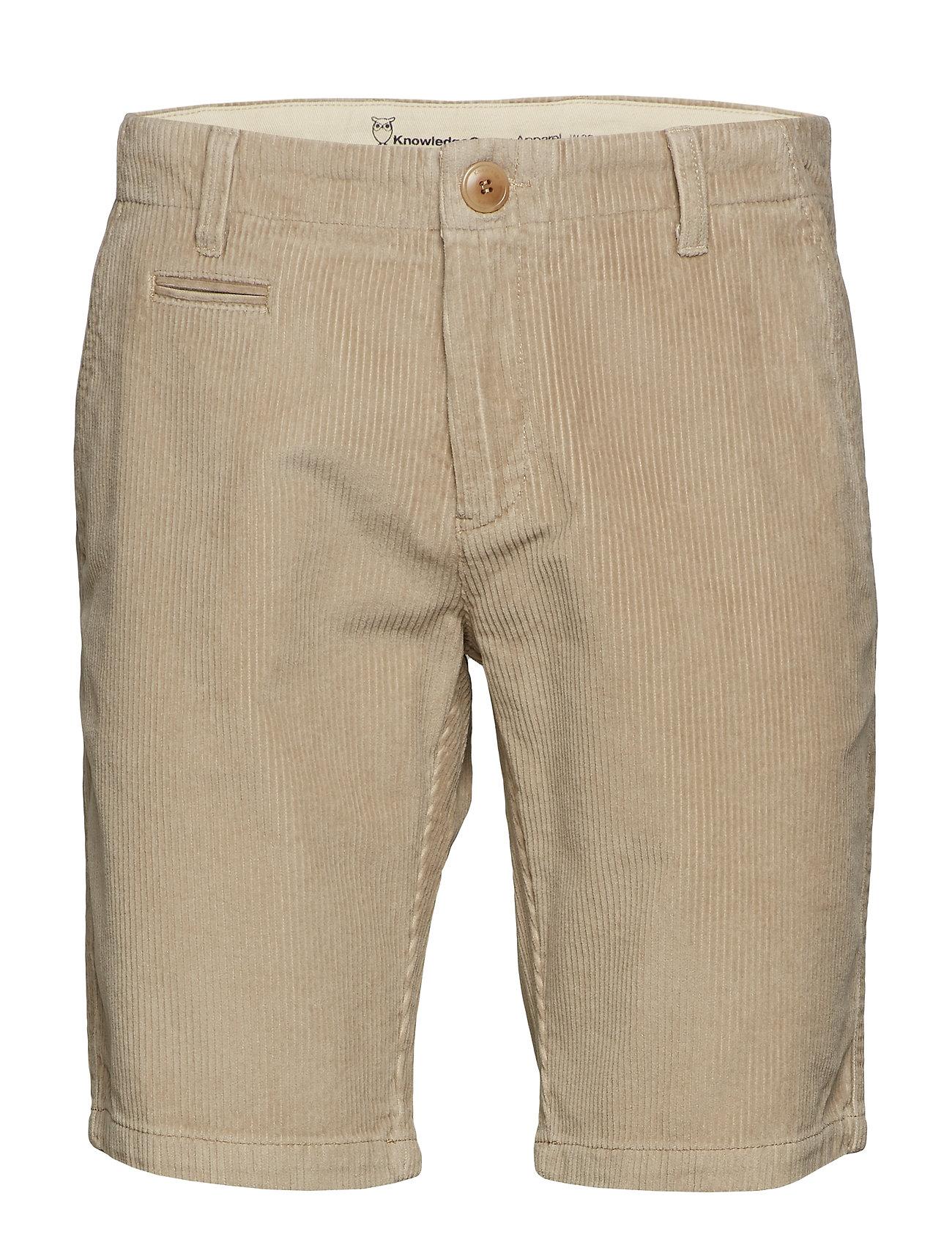 Knowledge Cotton Apparel Cordroy shorts - OCS/Vegan - LIGHT FEATHER GRAY