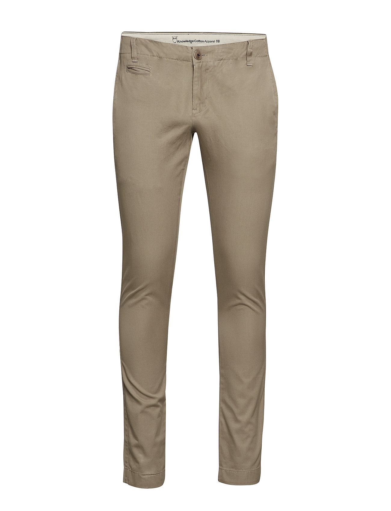 Knowledge Cotton Apparel Twisted Twill Chinos - GREIGE