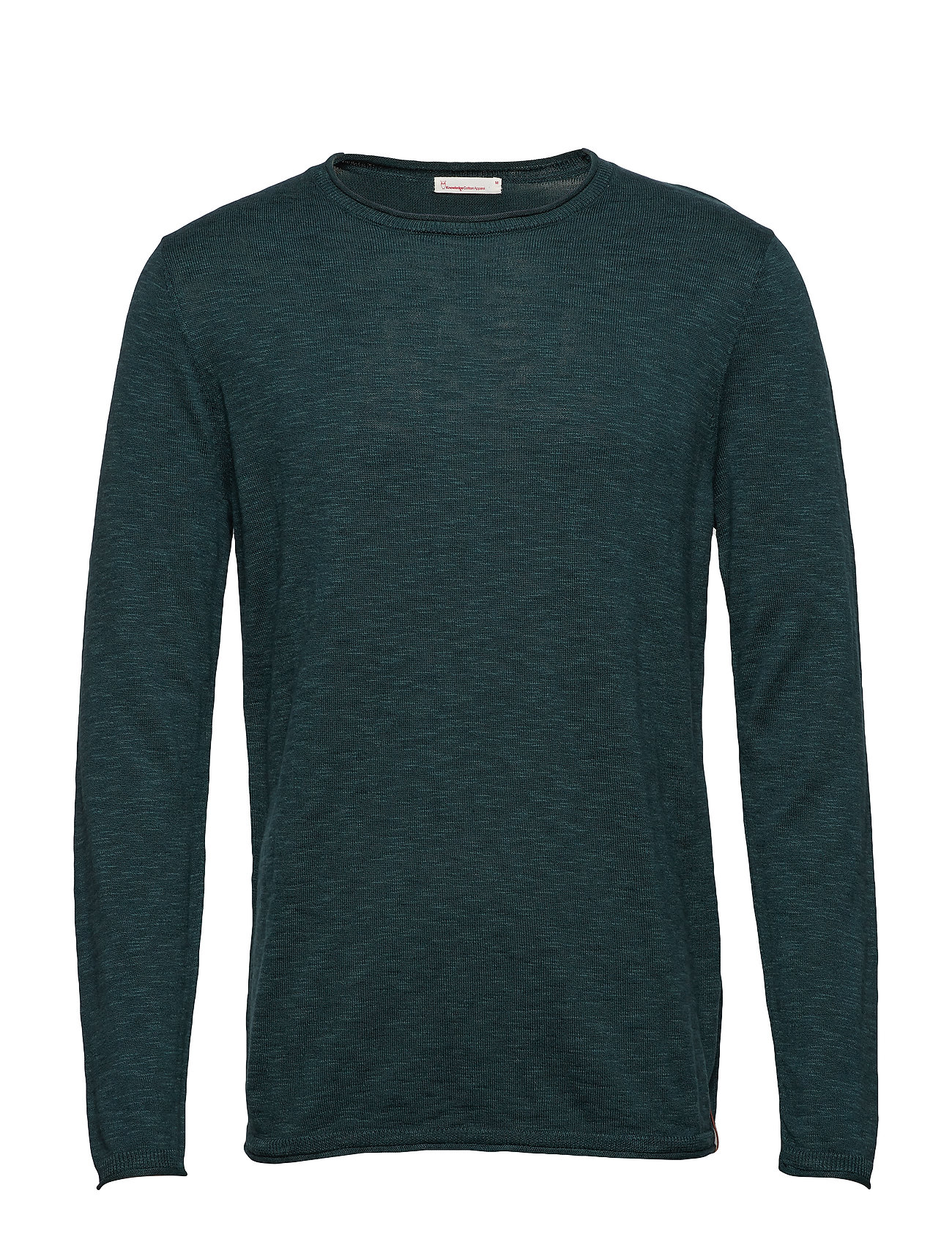Knowledge Cotton Apparel Single knit with rool edge/Vegan - BISTRO GREEN